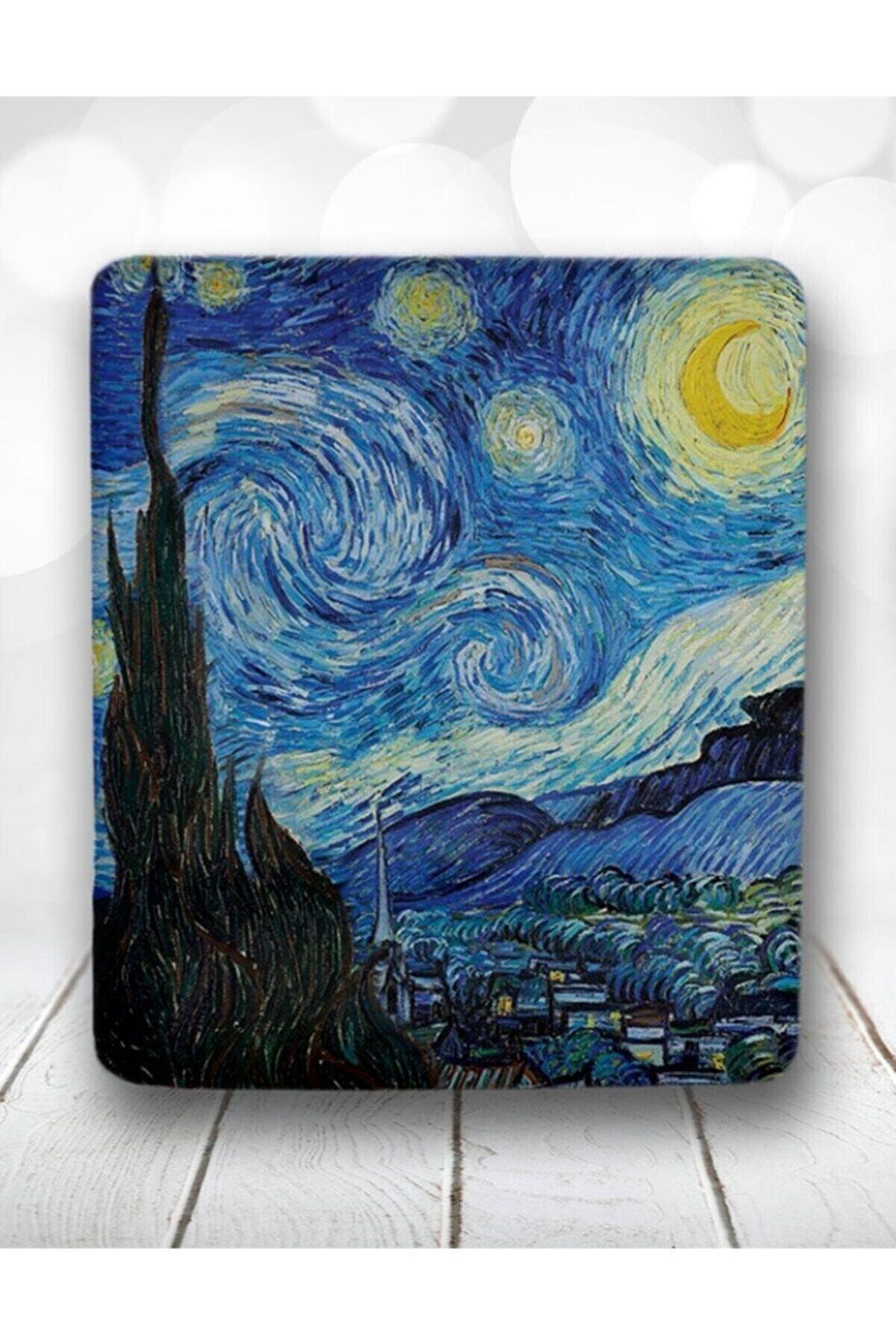 Atölye Çizgi Van Gogh Yıldızlı Gece Bilek Destekli Mouse Pad