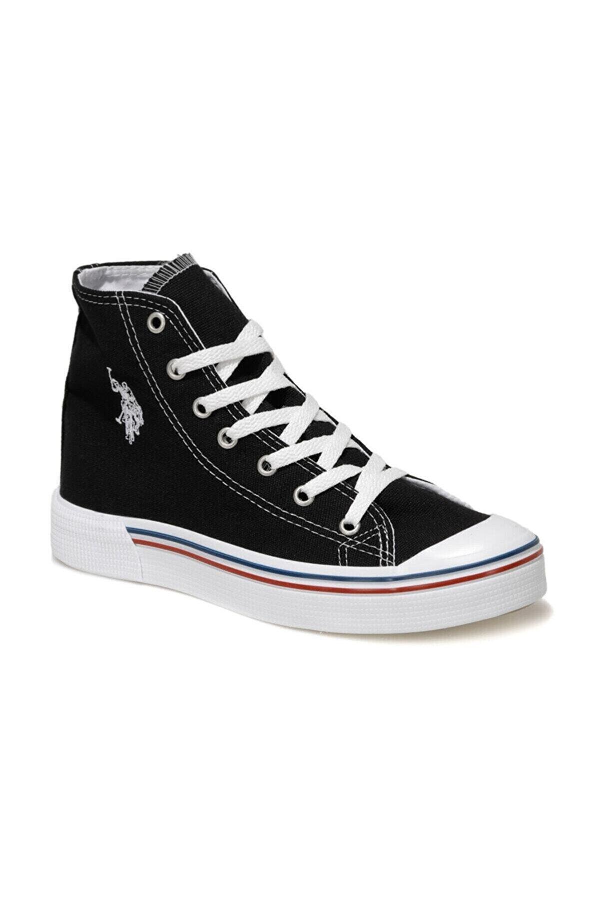 US Polo Assn PENELOPE HIGH 1FX Siyah Kadın Havuz Taban Sneaker 100910634