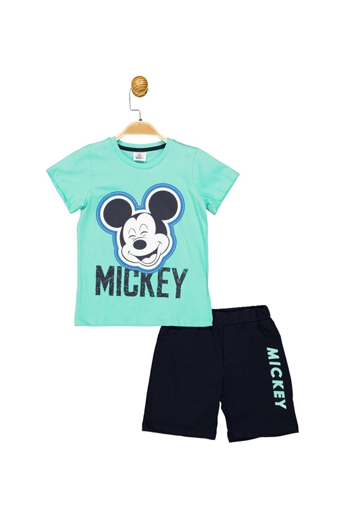 Mickey Mouse Erkek Turkuaz Lisanslı Çocuk Takım 18068