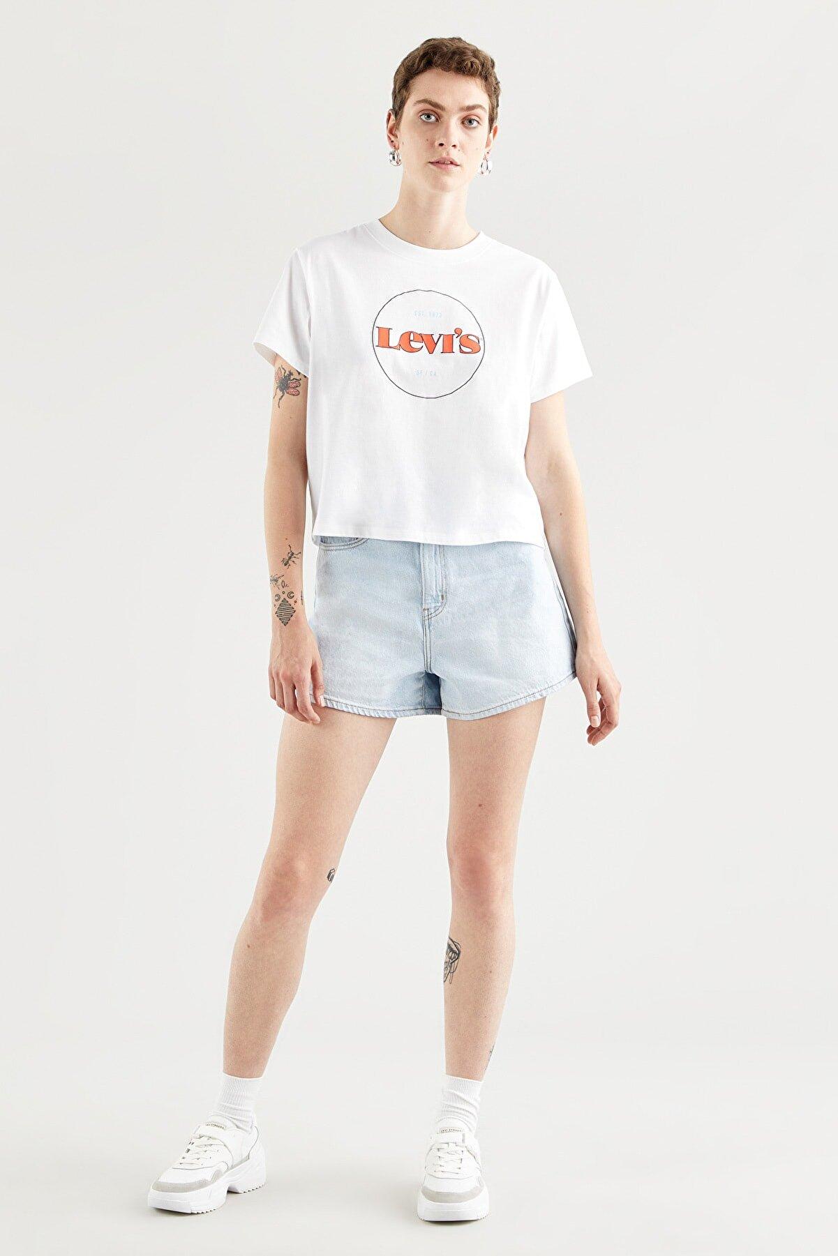 Levi's Kadın Graphıc Varsıty Tee New Cırcle Logo_Che T-Shirt 69973-0153