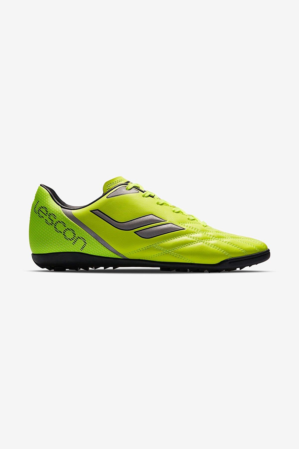 Lescon Erkek Çocuk Fosfor Yeşil Halı Saha Ayakkabısı Venom-007 H-19b