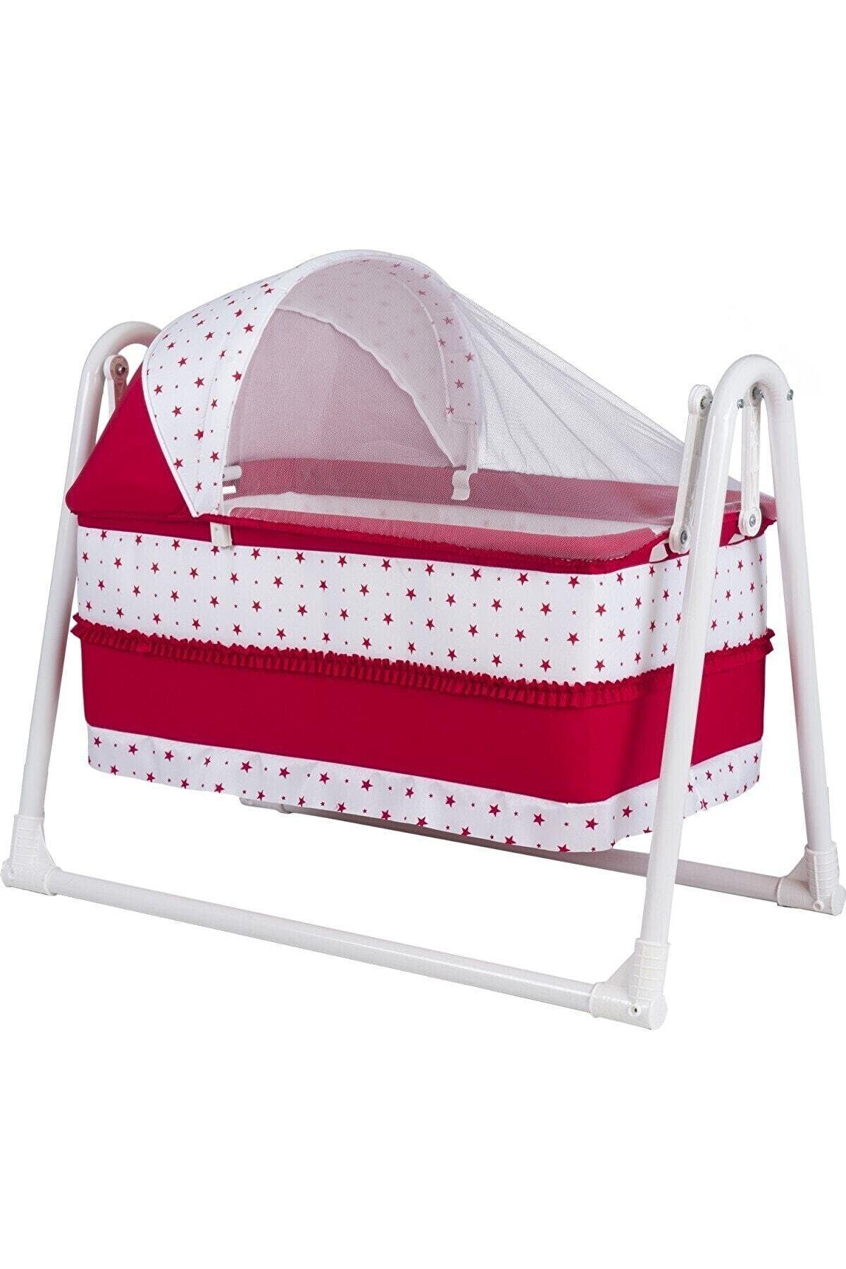 POLLY BABY Kırmızı Lüks Portatif Sallanır Sepet Beşik
