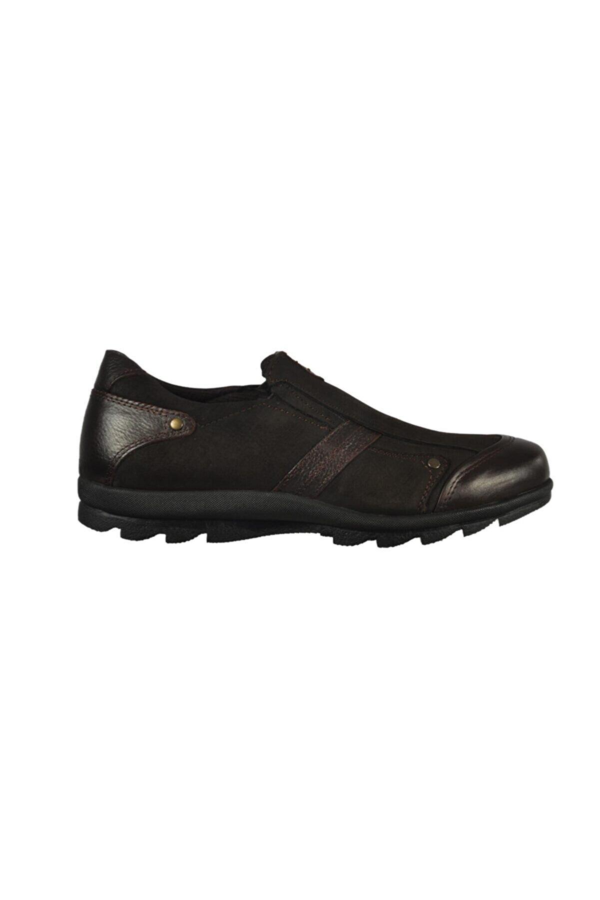 Jump 20472 Hakiki Deri Casual Kahverengi Erkek Ayakkabı