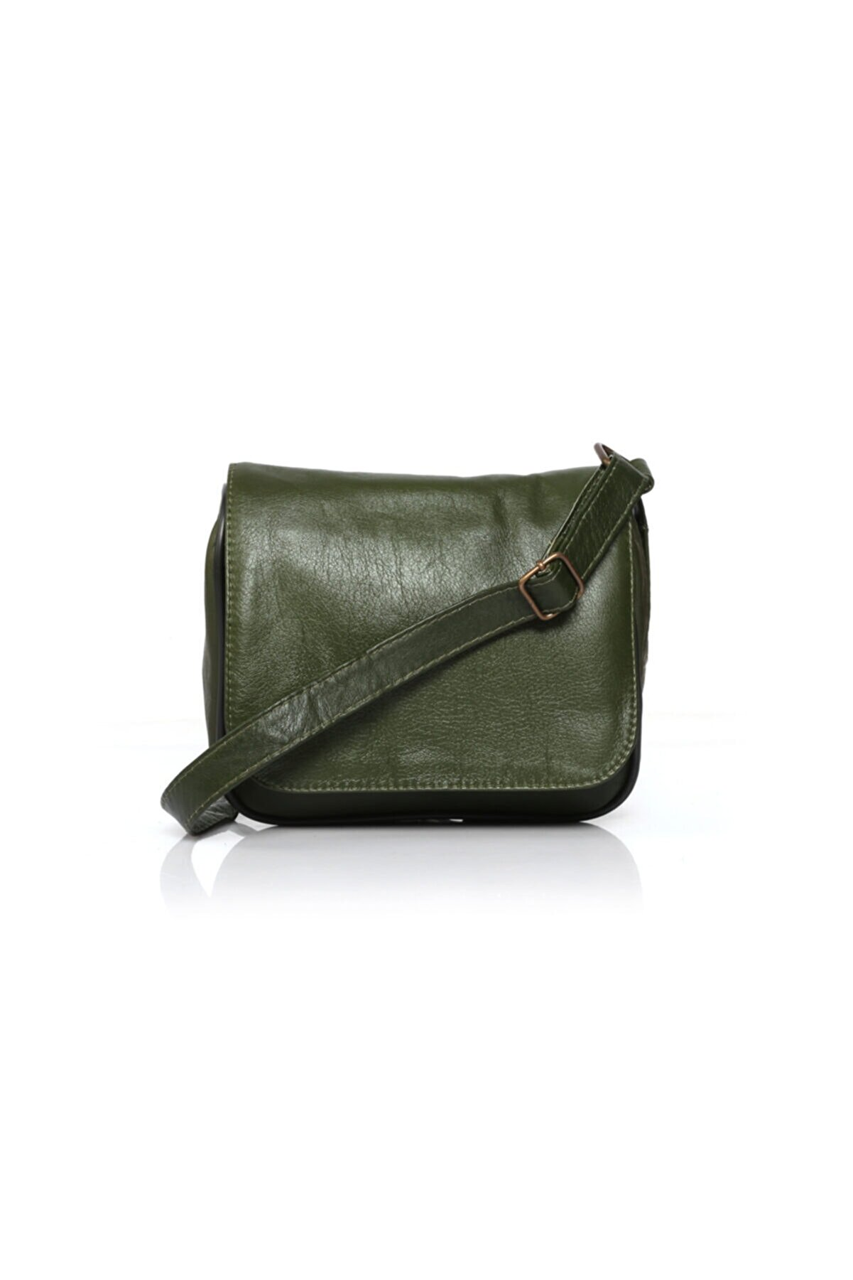 S&S Kadın Yeşil Deri Çapraz Postacı Çanta