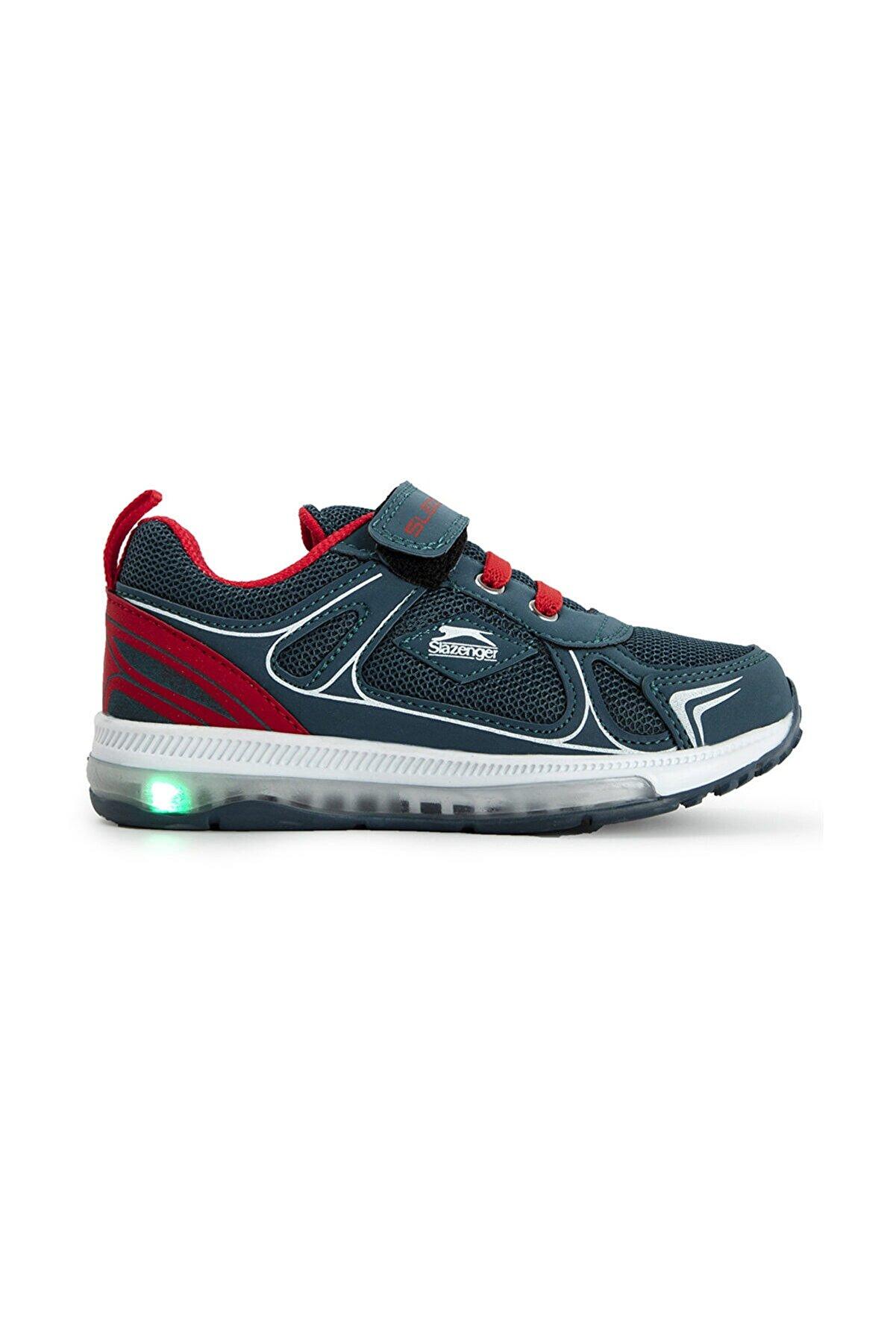 Slazenger Elf I Sneaker Çocuk Işıklı Taban Ayakkabı Petrol Sa11lp049