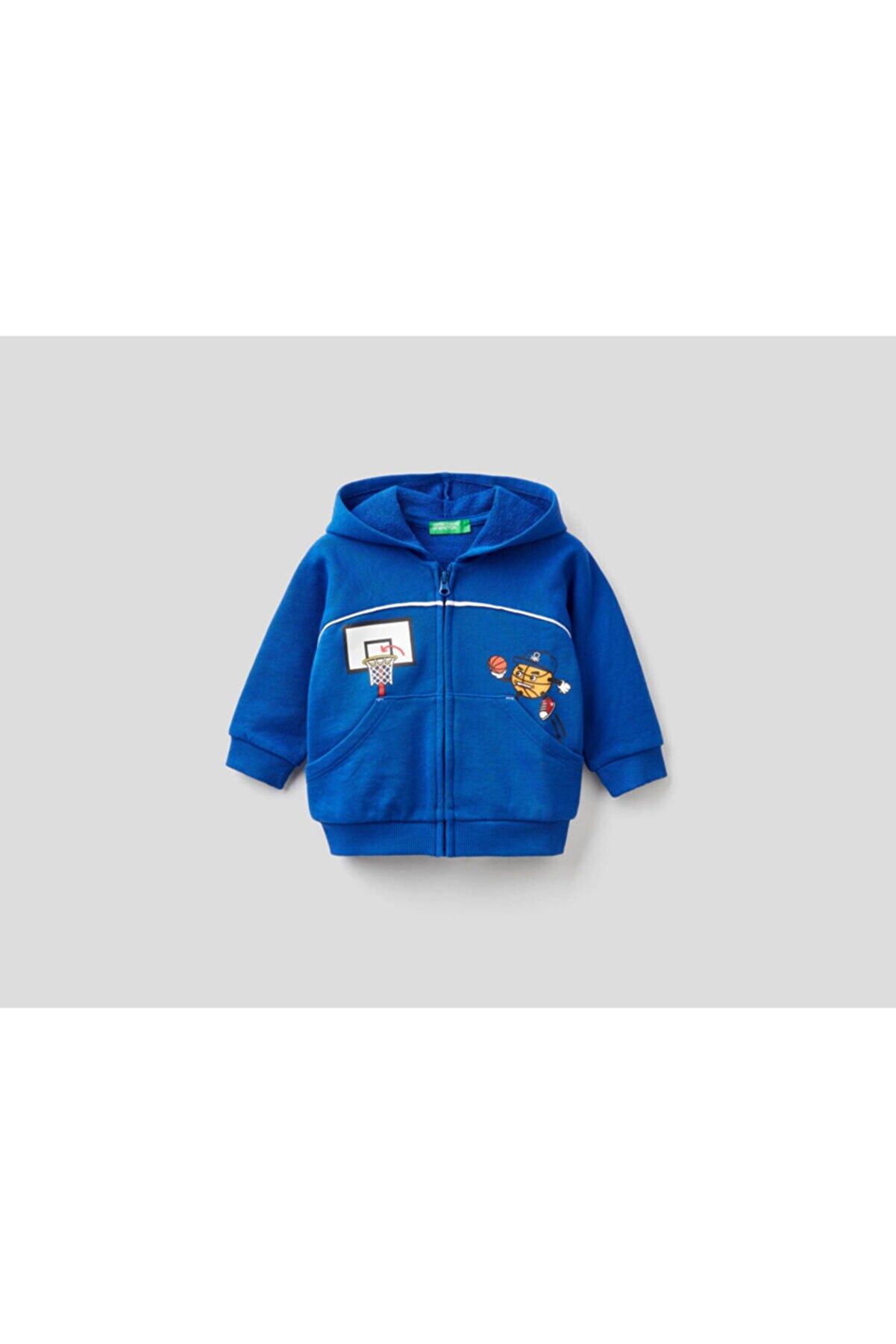 Benetton 012 Kabartmabaskılı Sweatshirt