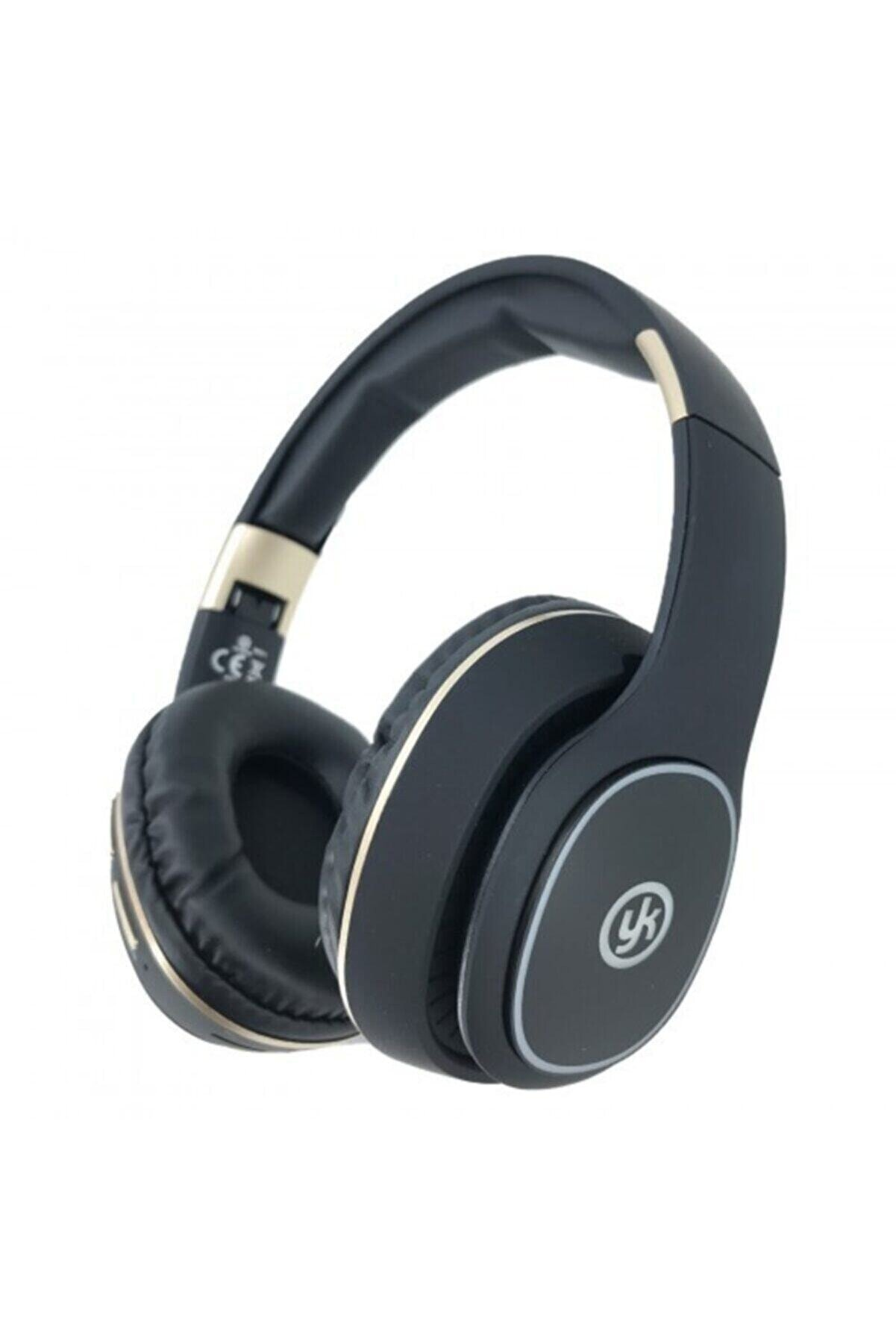 YK Design Sıyah Led Işıklı Bluetooth Kafaüstü Wireless Kulaklık Ledsr8111