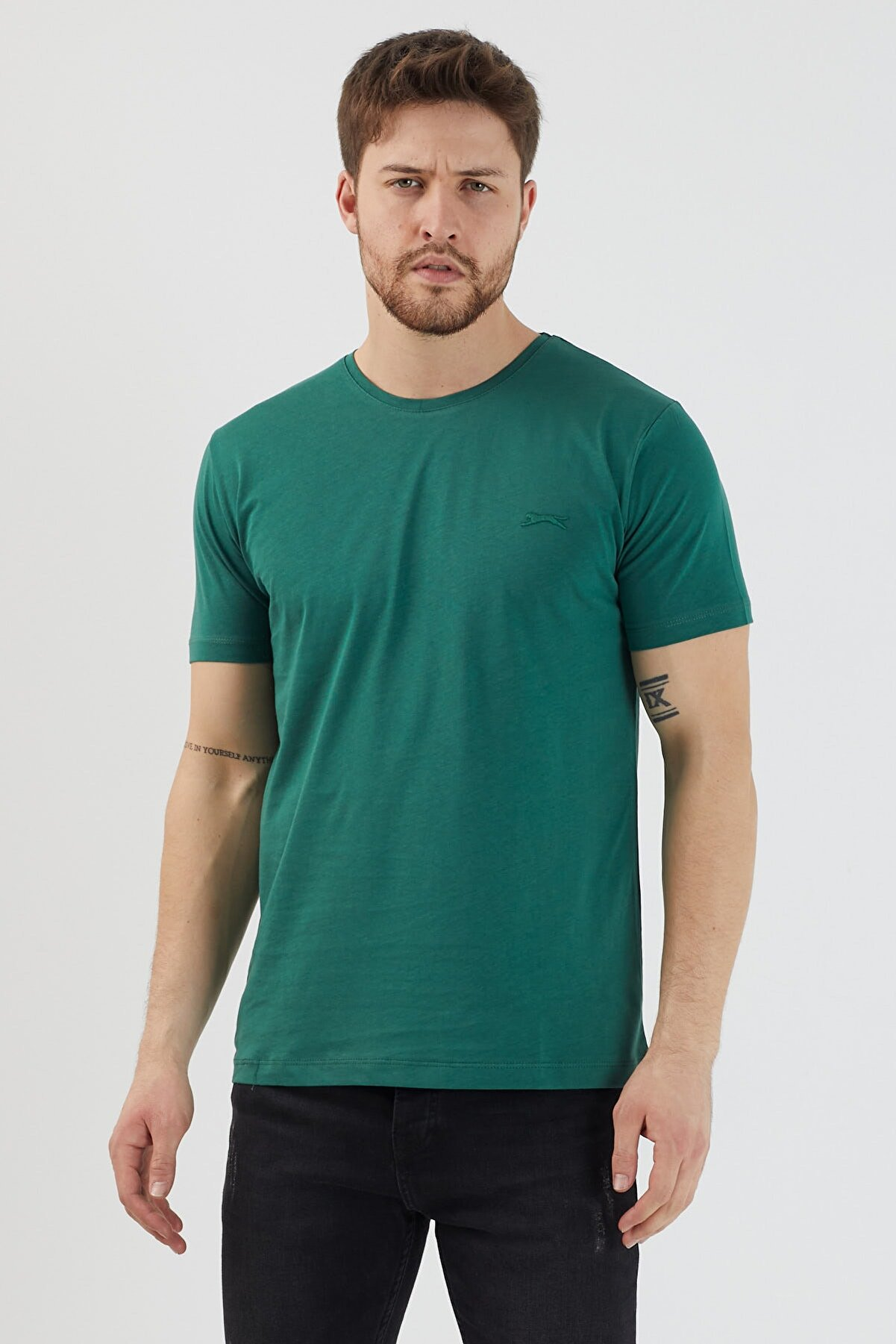 Slazenger Sander Erkek T-shirt K.yeşil St11te083