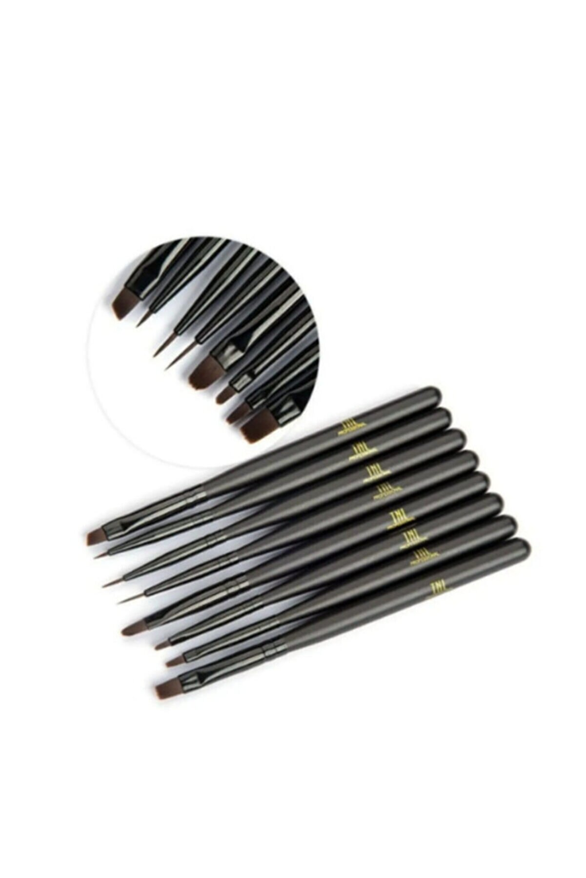 TNL Siyah 8'li Lüx Jel Ve Nail Art Fırça Takımı