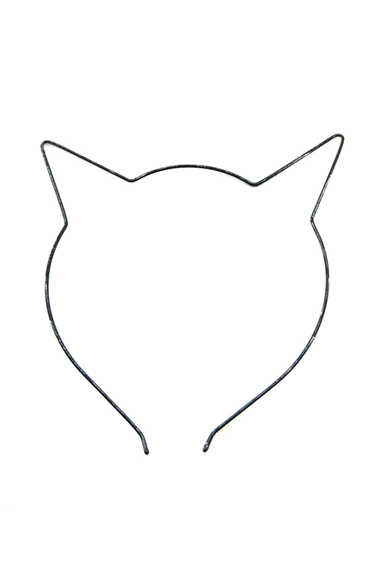 Tahtakaledeyim Kedi Figürlü Metal Taç, Kadın Saç Tacı