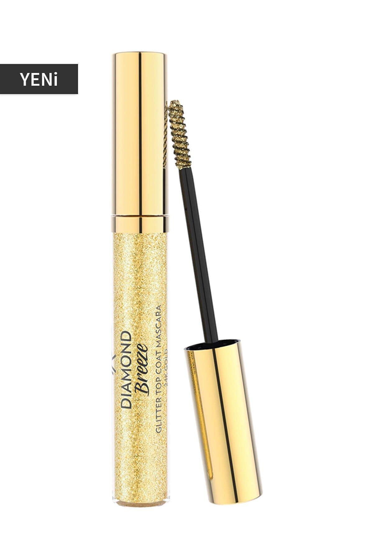 Golden Rose Işıltı Veren Altın Rengi Maskara - Diamond Breeze Topcoat Mascara 24k Gold 8691190965679