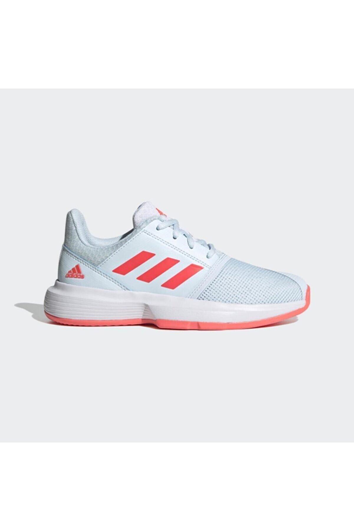 adidas Unisex Çocuk Beyaz Fv4124 Courtjam Tenis Ayakkabısı