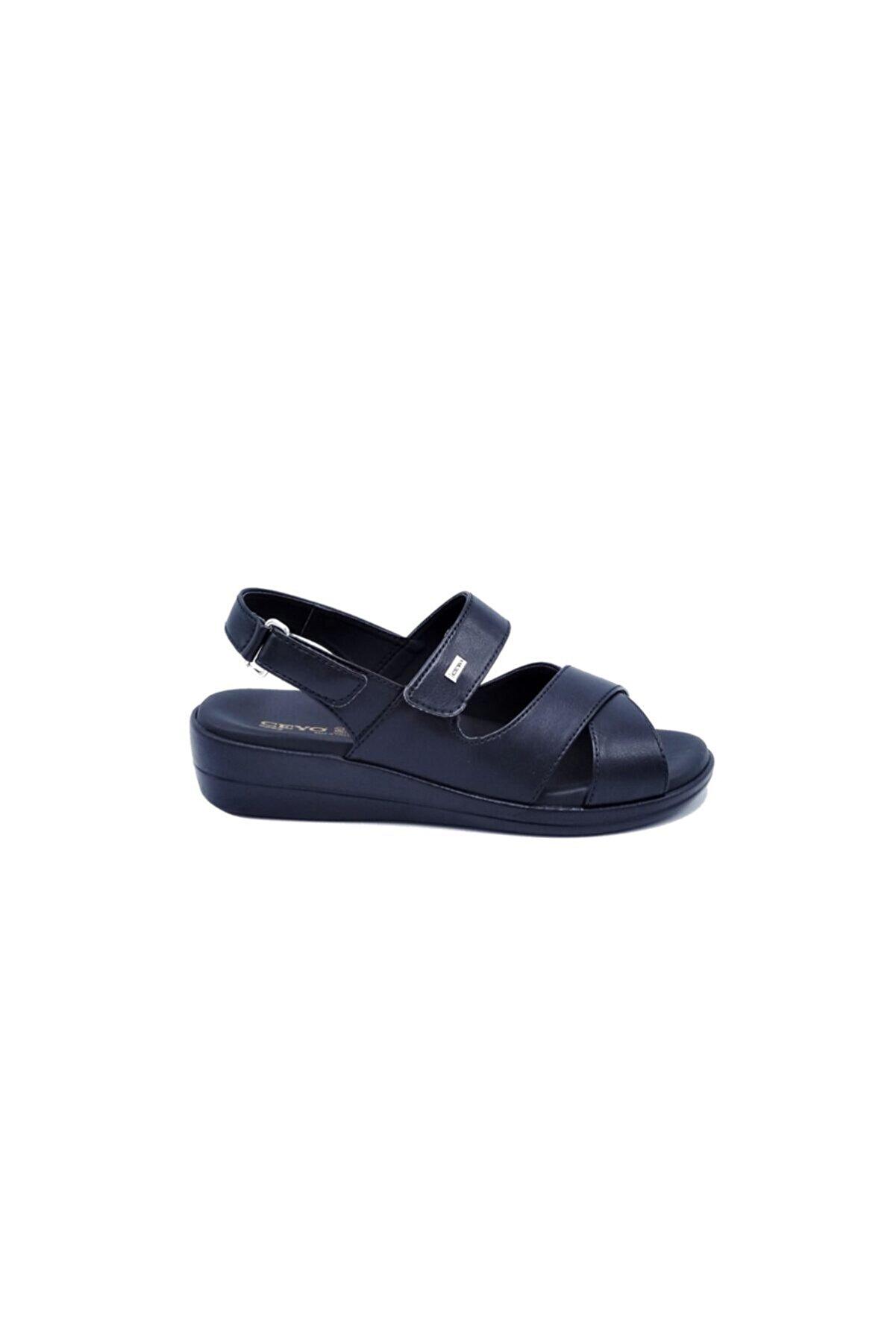 Ceyo Kadın Siyah Sandalet 505986312-1