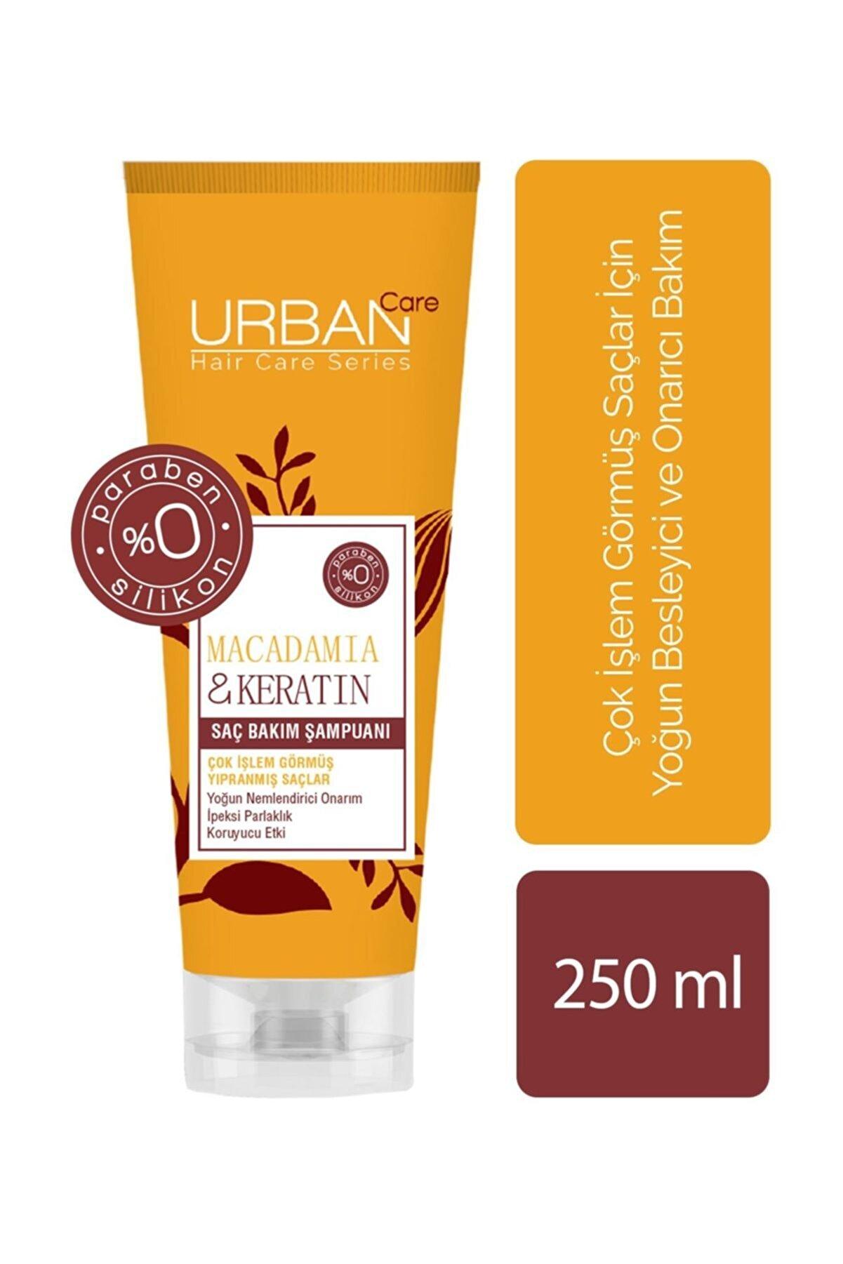 Urban Care Makademya Yağı Keratin İçeren Yoğun Nemlendirici  Onarıcı Şampuan 250 ml 8680690701429