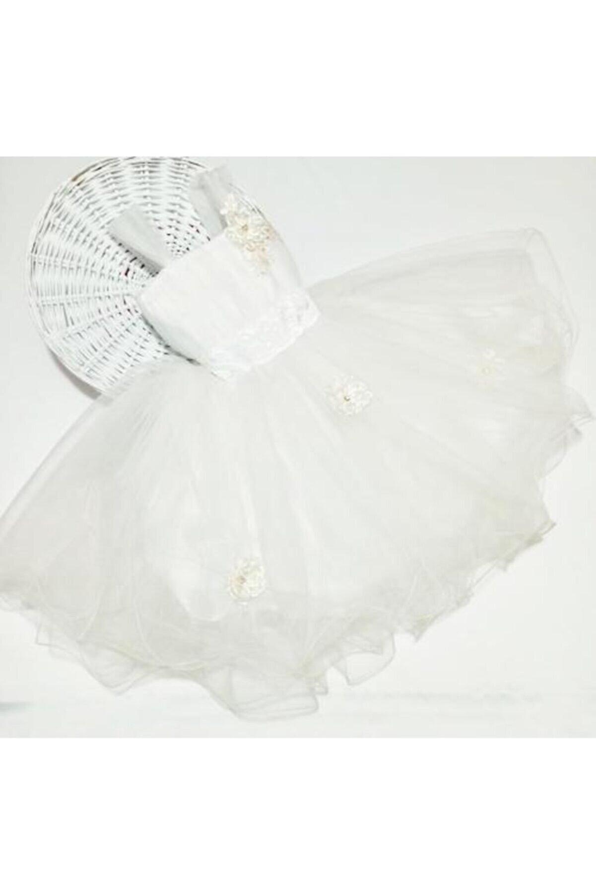 Berra Kız Çocuk Beyaz Abiye Elbise
