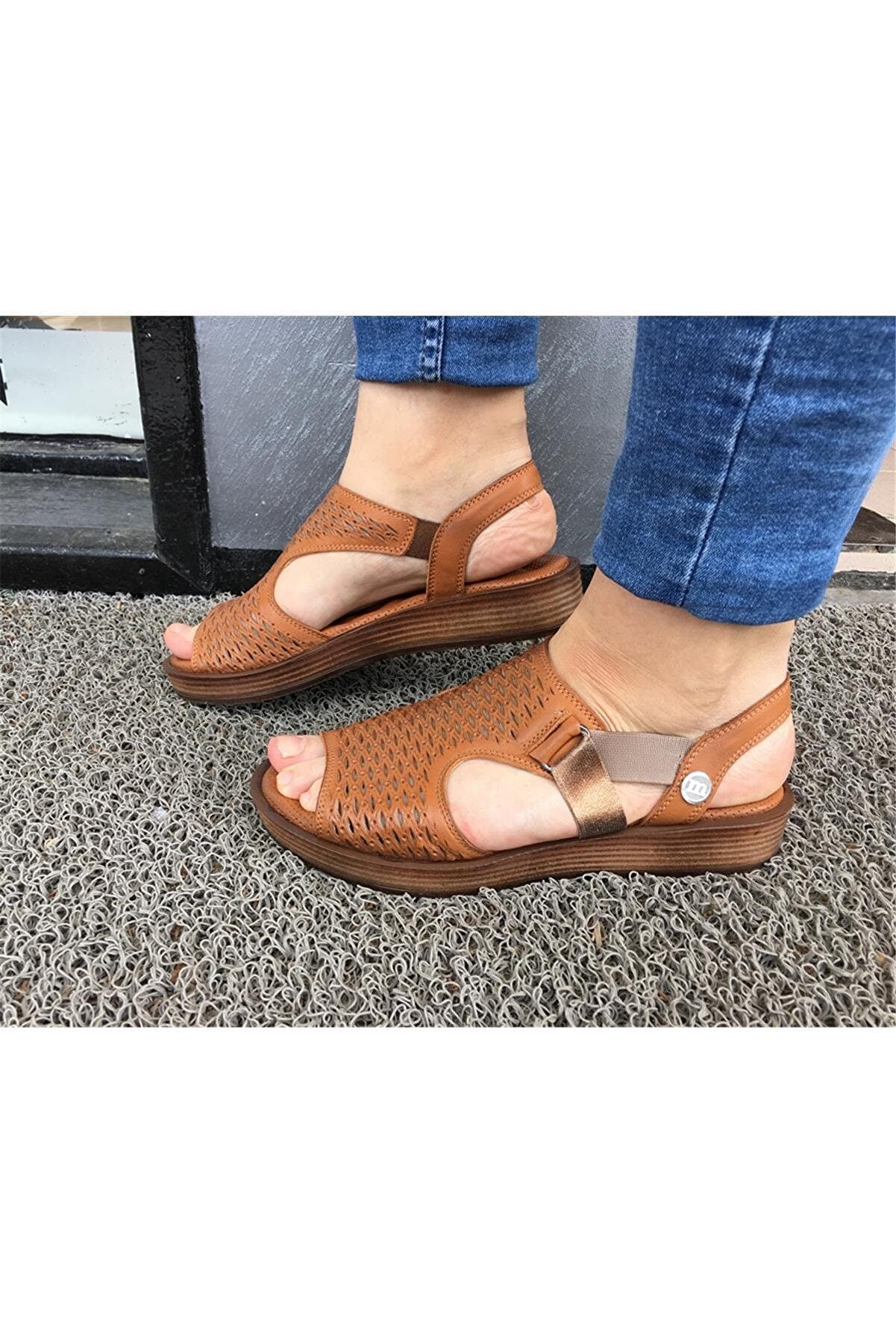 Mammamia Kadın Kahverengi Sandalet D20ys-1645