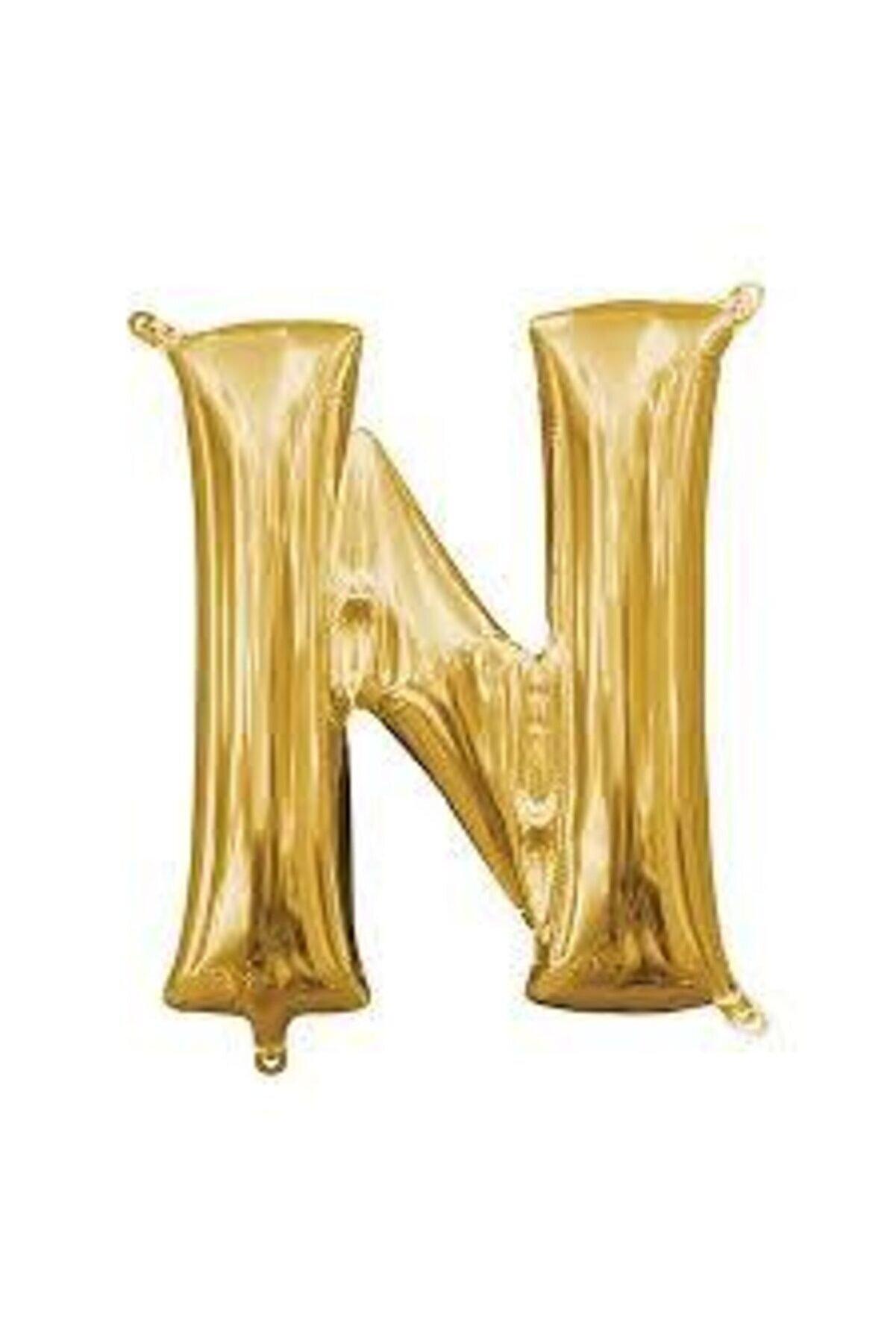 """Deniz Yıldızı Sanat 16"""" Inç 40 Cm Folyo Harf Balon Gold N"""
