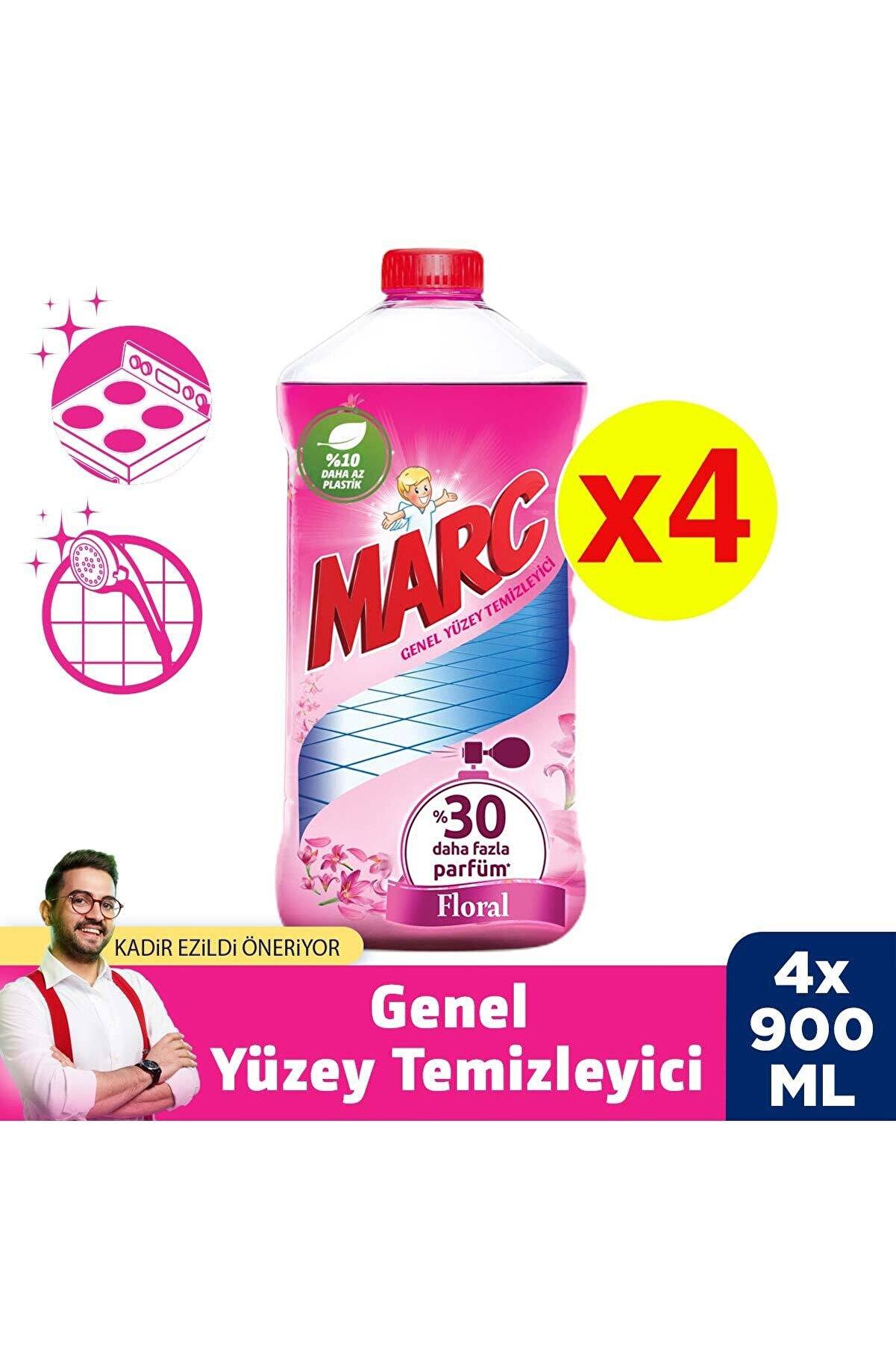 Marc Yüzey Temizleyici 4x900 ml Floral