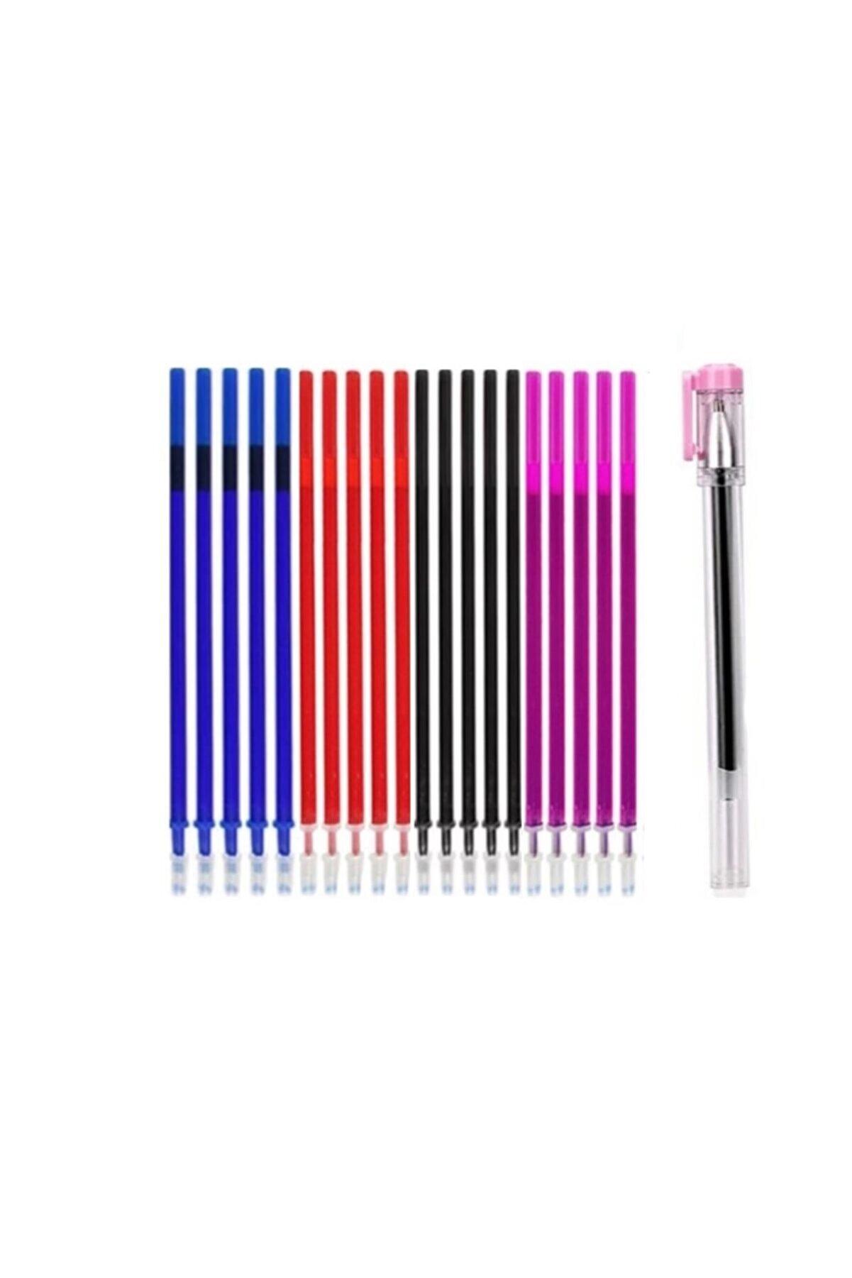 armex Isı Ve Ütü Ile Silinen Uçan Kalem 1 Adet Ve 25 Adet Kalem Içi 4 Renk 0.5 Mm Iğne Uçlu