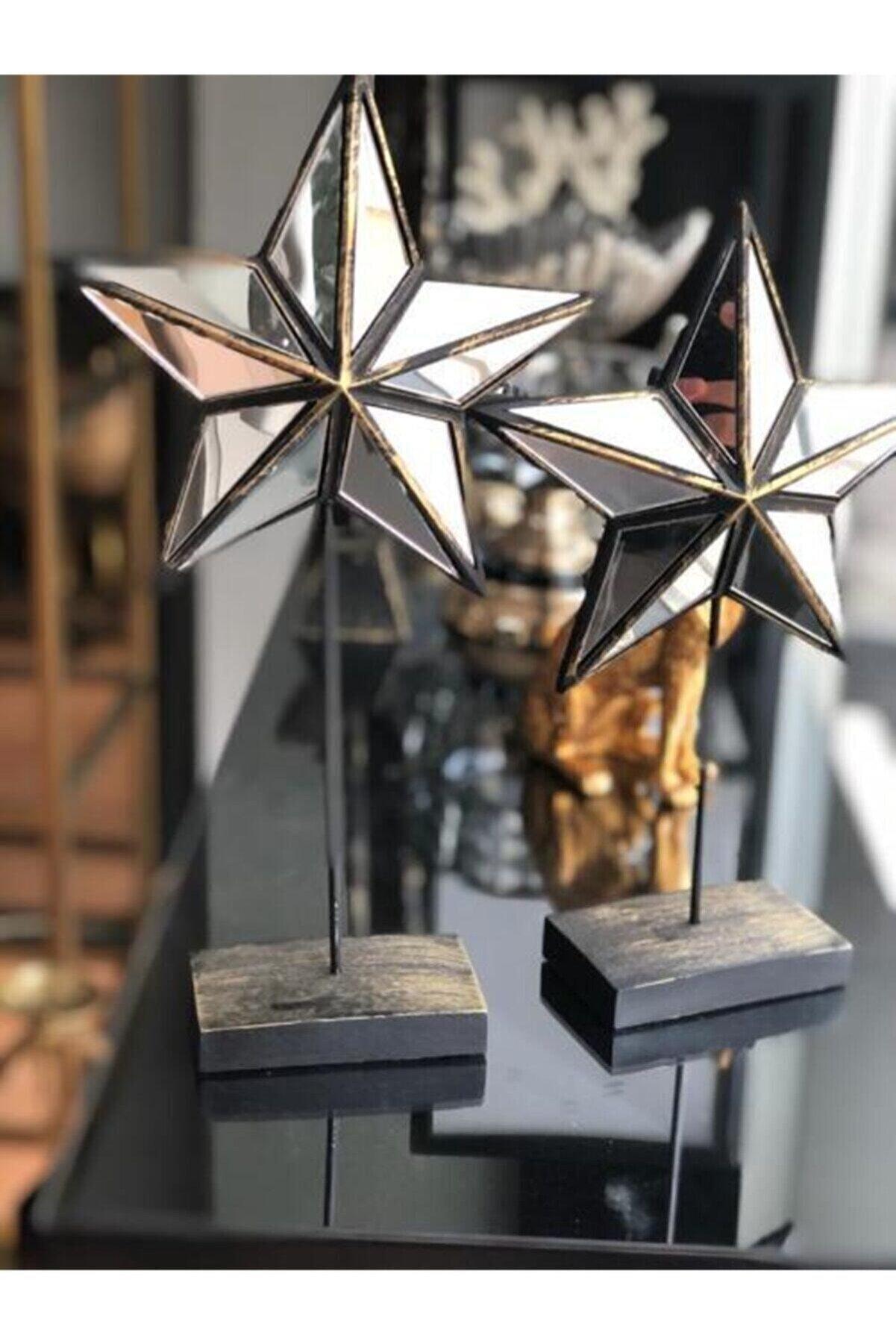 Sillage Home Ev Dekorasyon 2 Li Aynalı Yıldız Obje