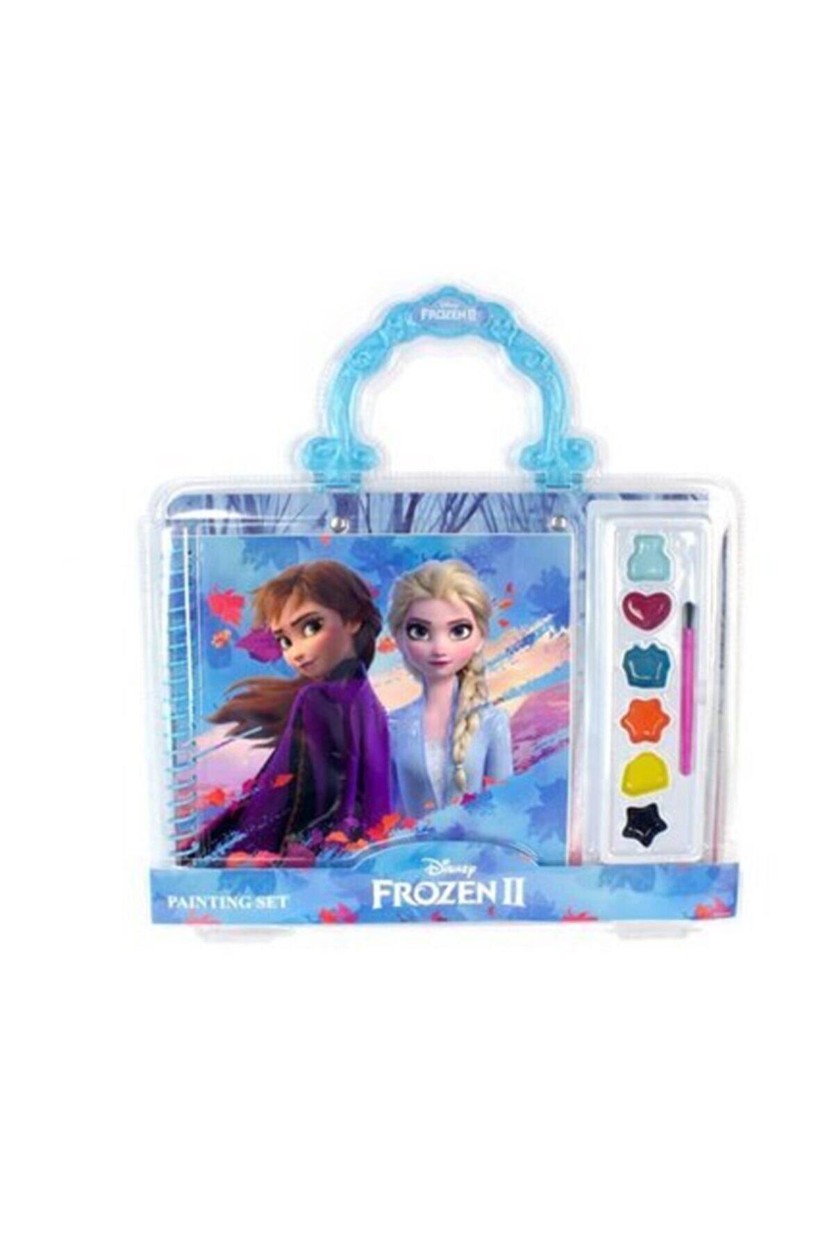 Frozen Kız Çocuk Mavi Boyama Seti