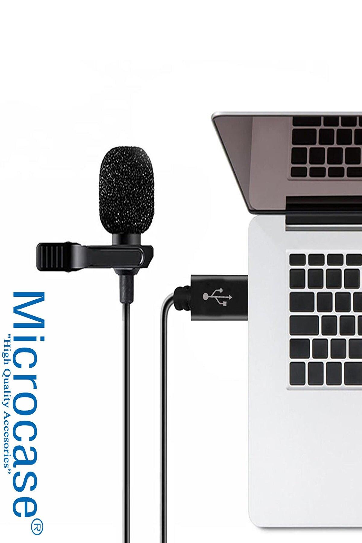 Microcase Usb Girişli Bilgisayar Laptop Pc Mac Youtuber Yaka Mikrofonu Al2563