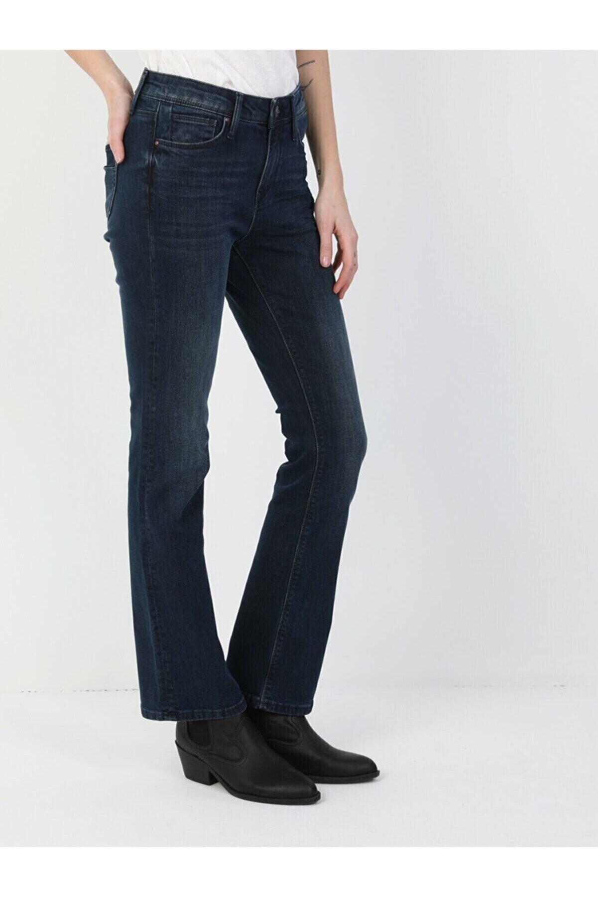 Colin's KADIN 791 Monıca Orta Bel Rahat Paça Regular Fit Kadın Jean Pantolon CL1048930