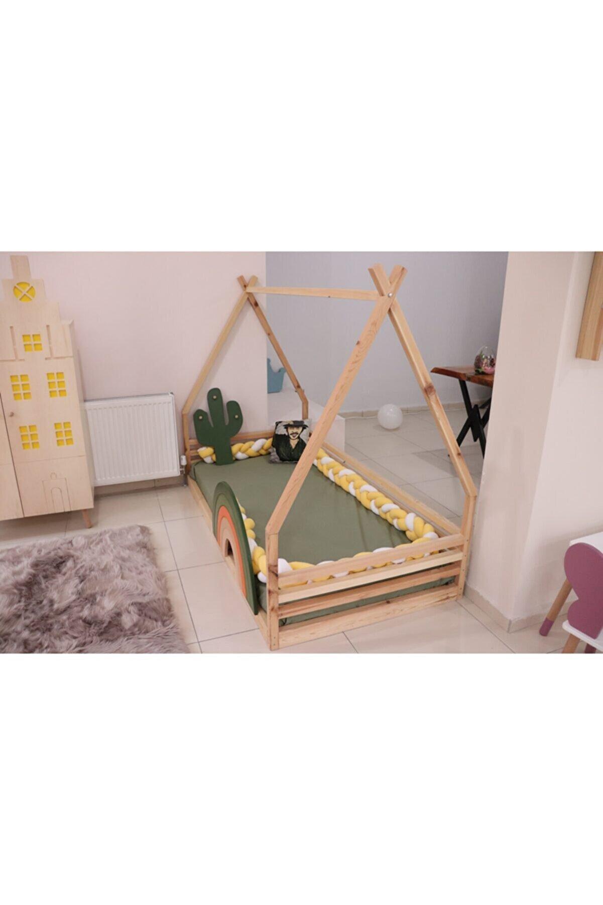 KOALA KIDS Montessori Yatak (gökkuşağı Yatak Korkuluğu Dahil)