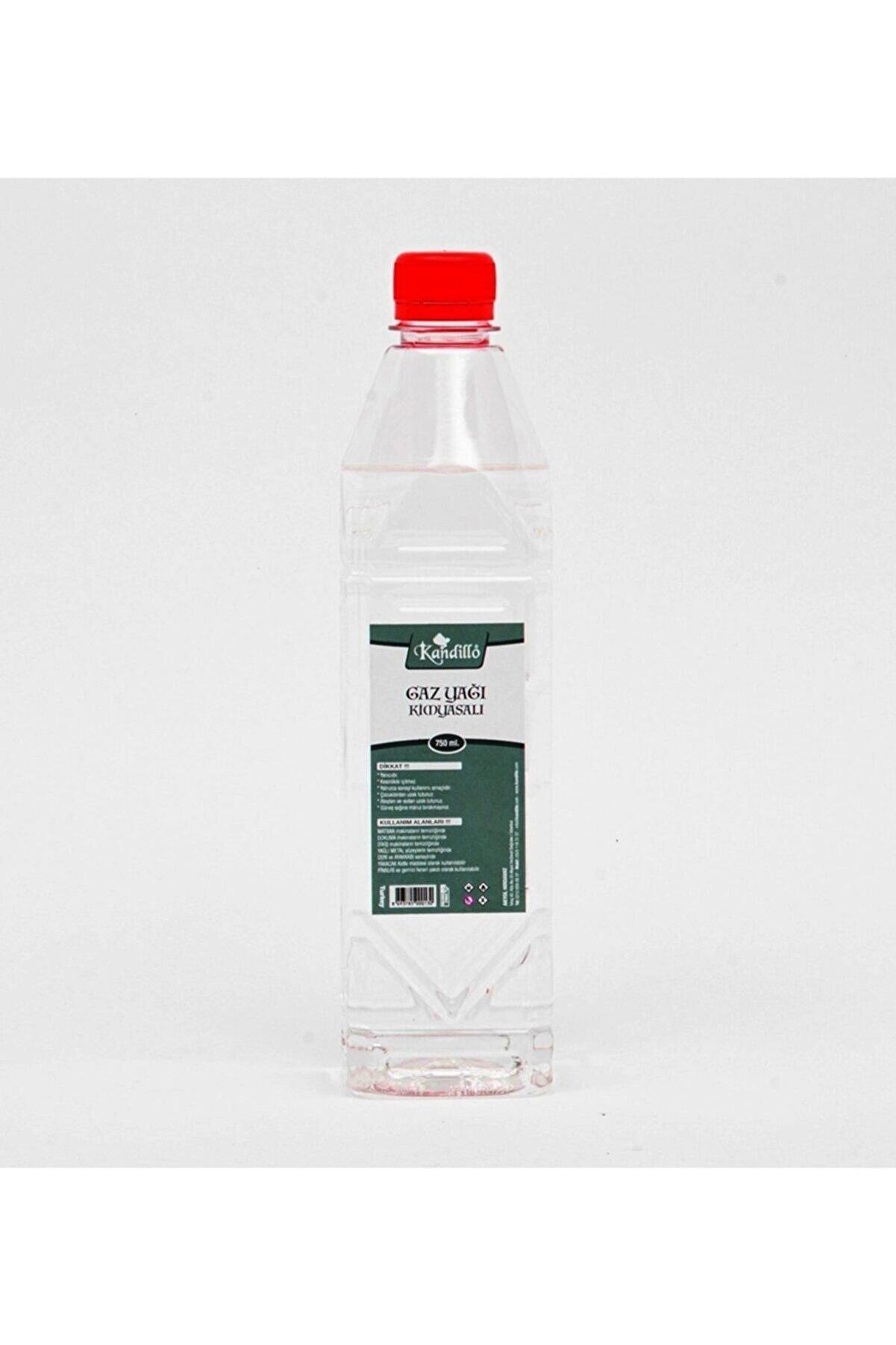 Kandillo Gazyağı Gaz Lambası Yağı 750 Ml. Gaz Sobası Boya Koruma Zift Reçine Zincir Yedek Parça Temizleyici