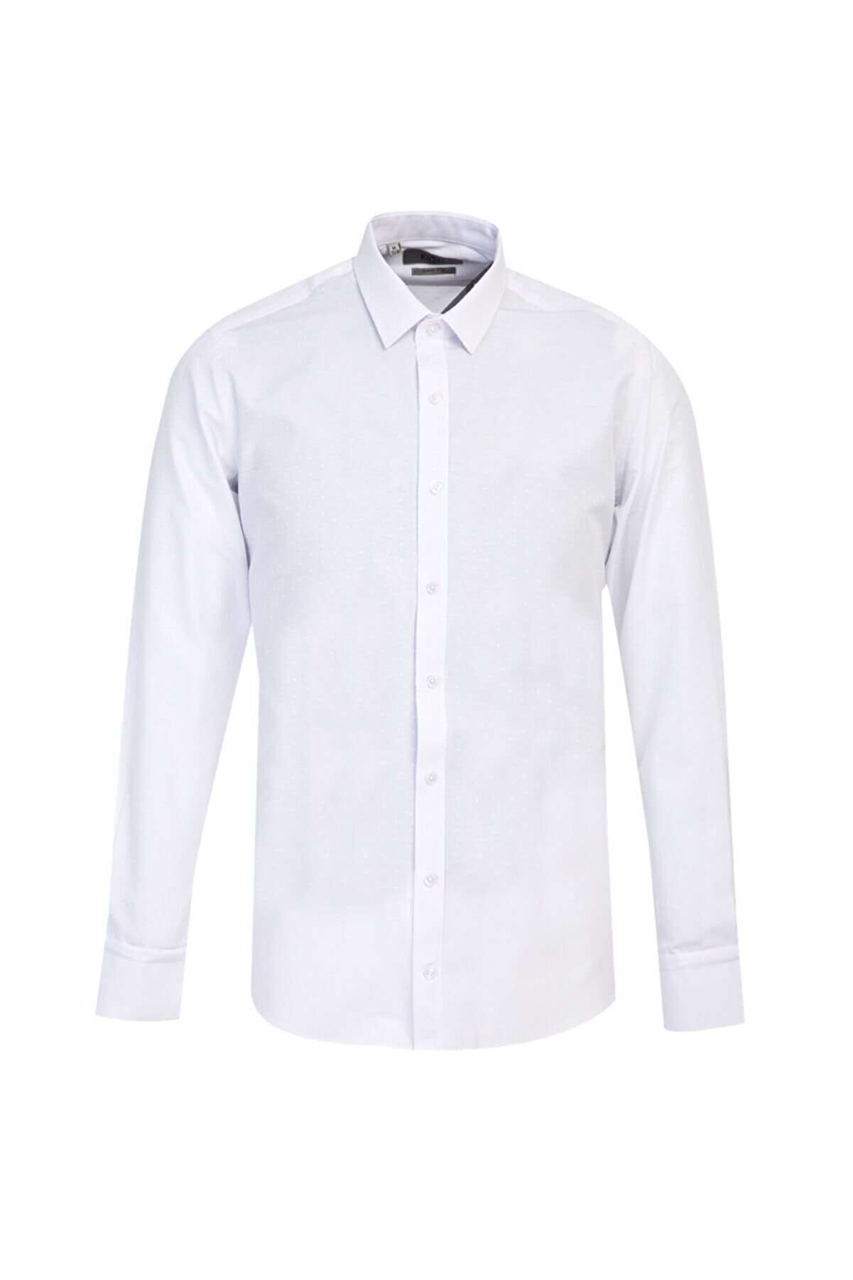Kiğılı Uzun Kol Slim Fit Desenli Gömlek