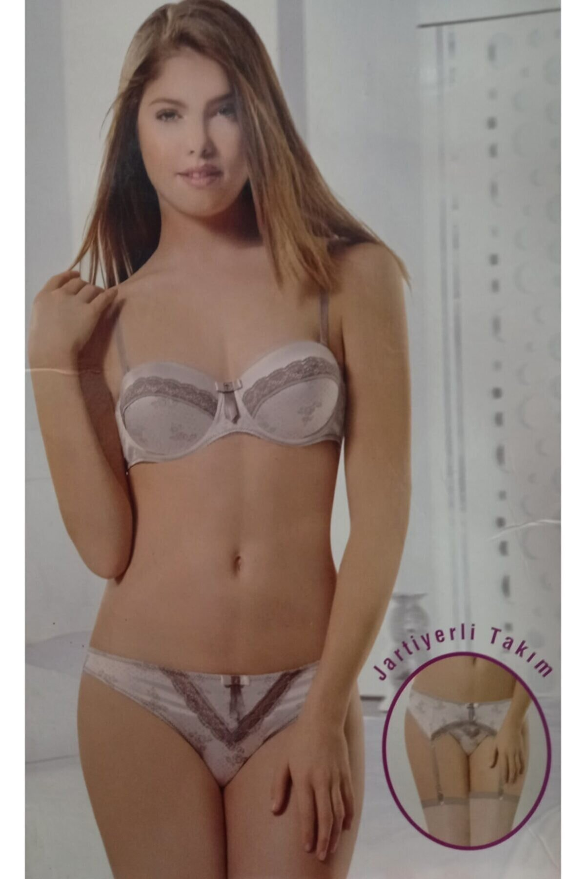 Nbb Kadın Sütyen Takımı Jartiyerli