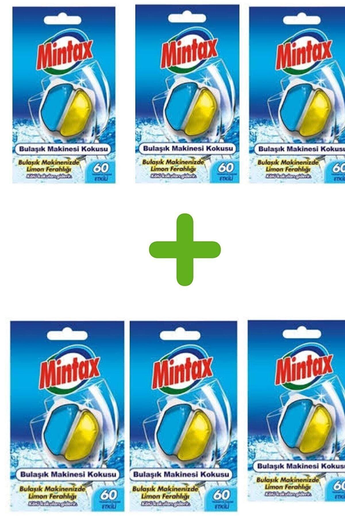 Mintax Bulaşık Makinesi Kokusu 60 Yıkama Limon Kokusu*6 Adet