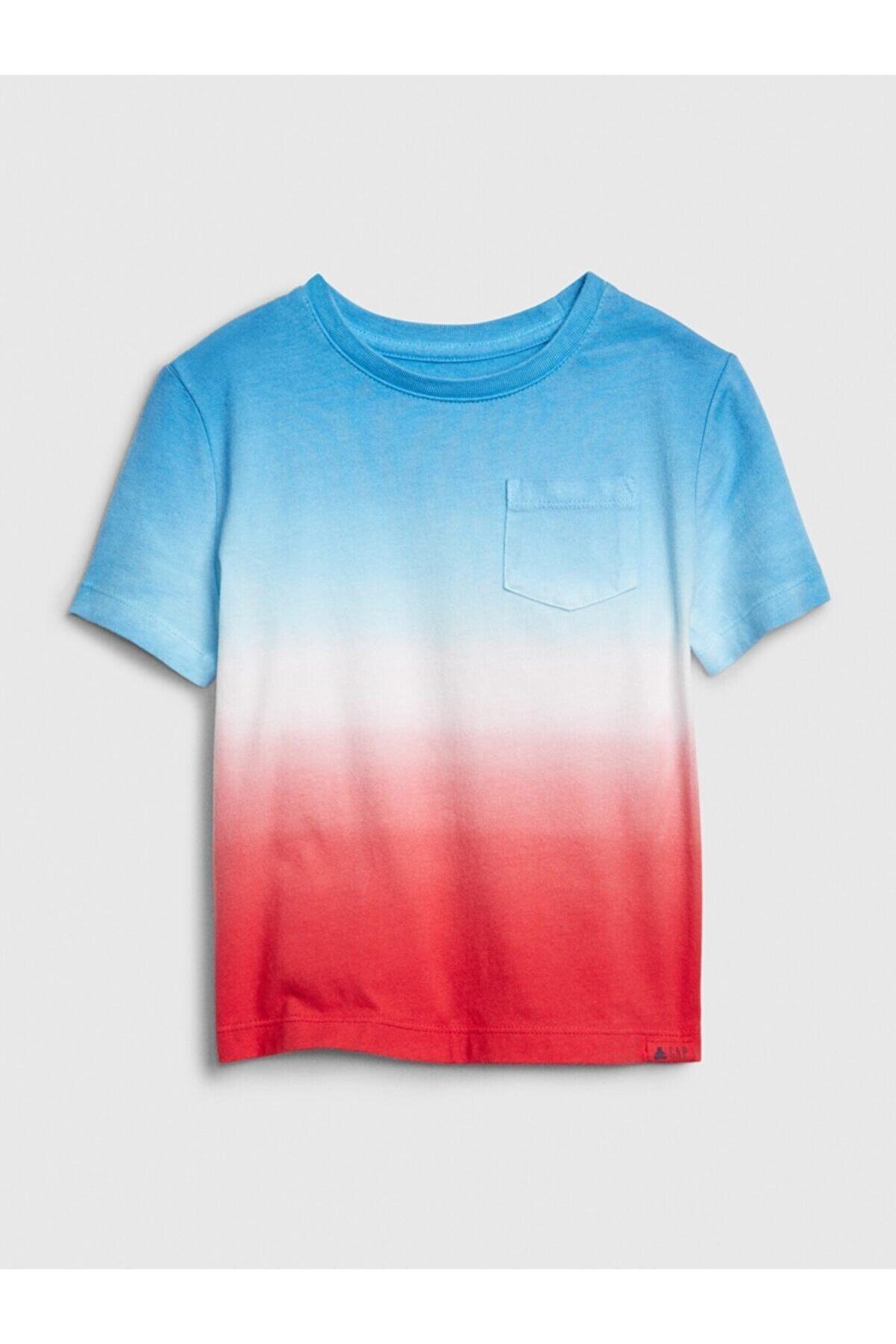 GAP Erkek Bebek Mavi Cepli Desenli T-shirt