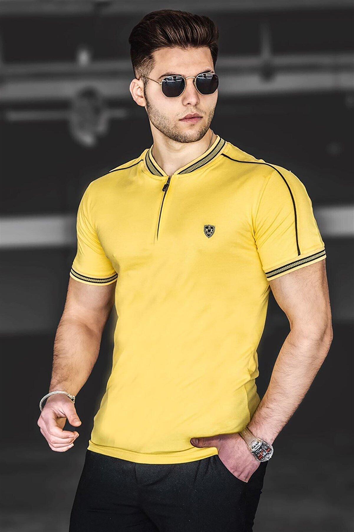 Madmext Erkek Sarı Polo Yaka Tişört 9281