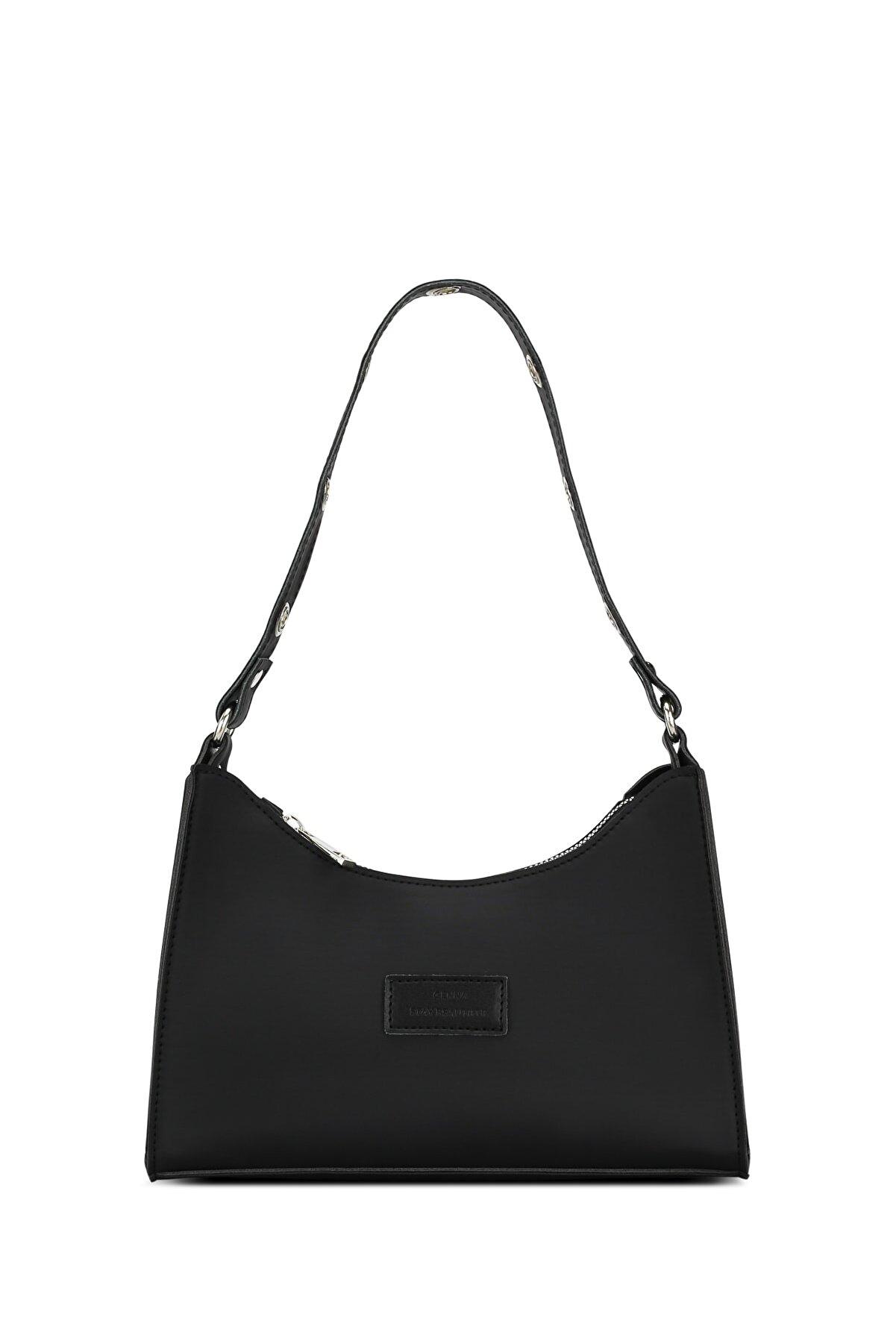 Housebags Kadın Siyah Soft Baguette Çanta 195