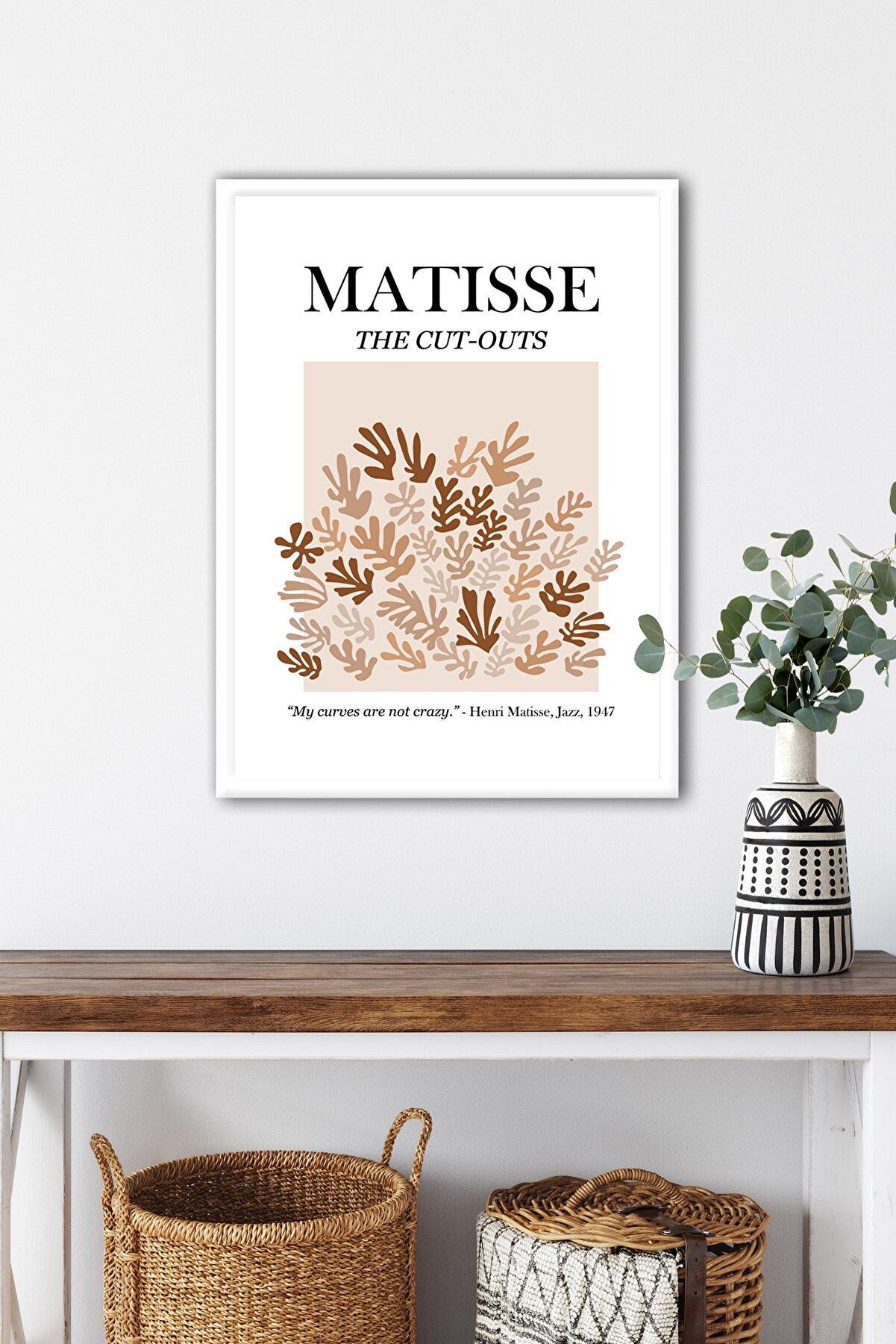 Ren House Matisse Cut-outs Single Çerçeveli Henri Matisse Modern Poster Tablo