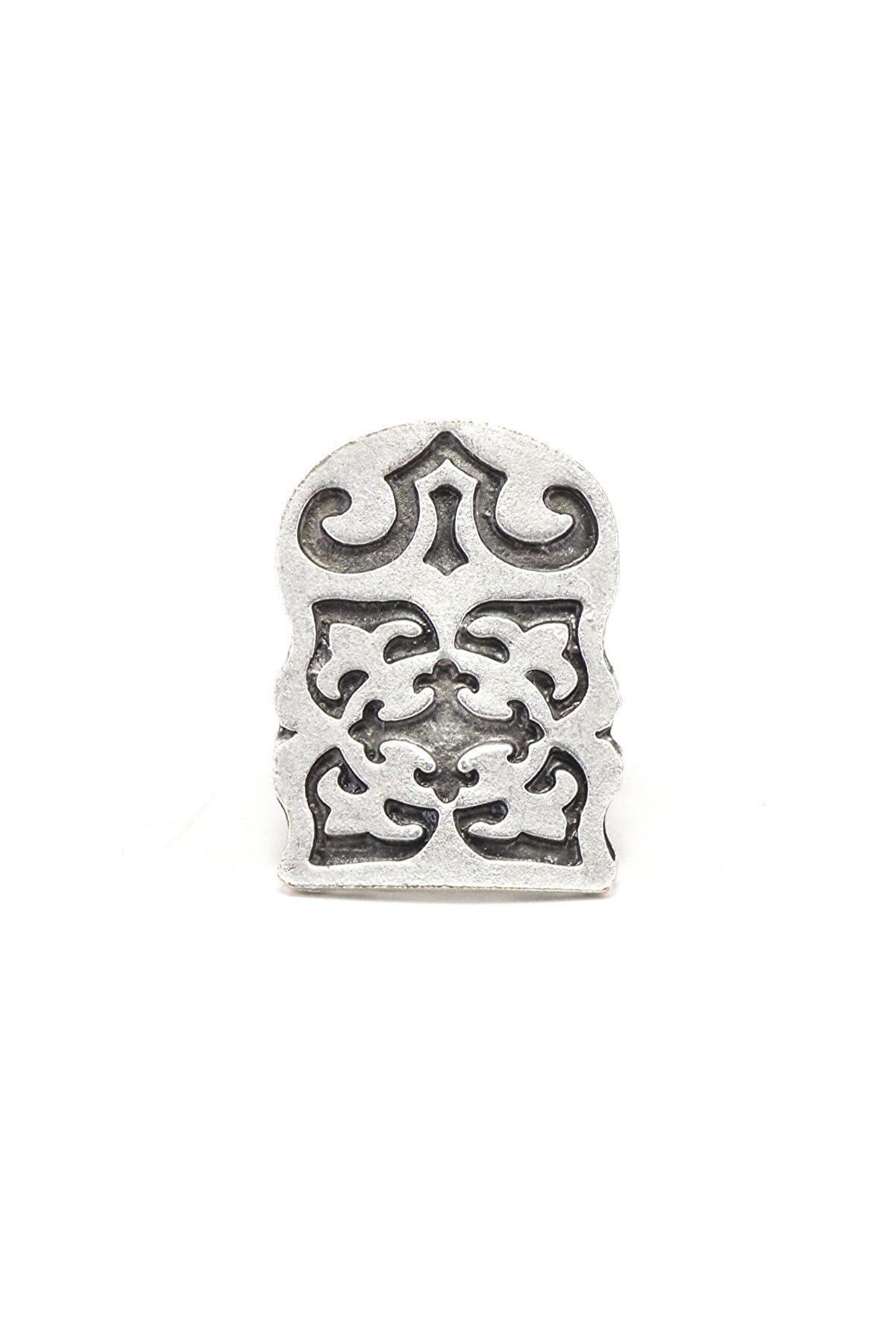 Zuk Collection Antik Gümüş Kaplama Ayarlanabilir Yüzük 120020