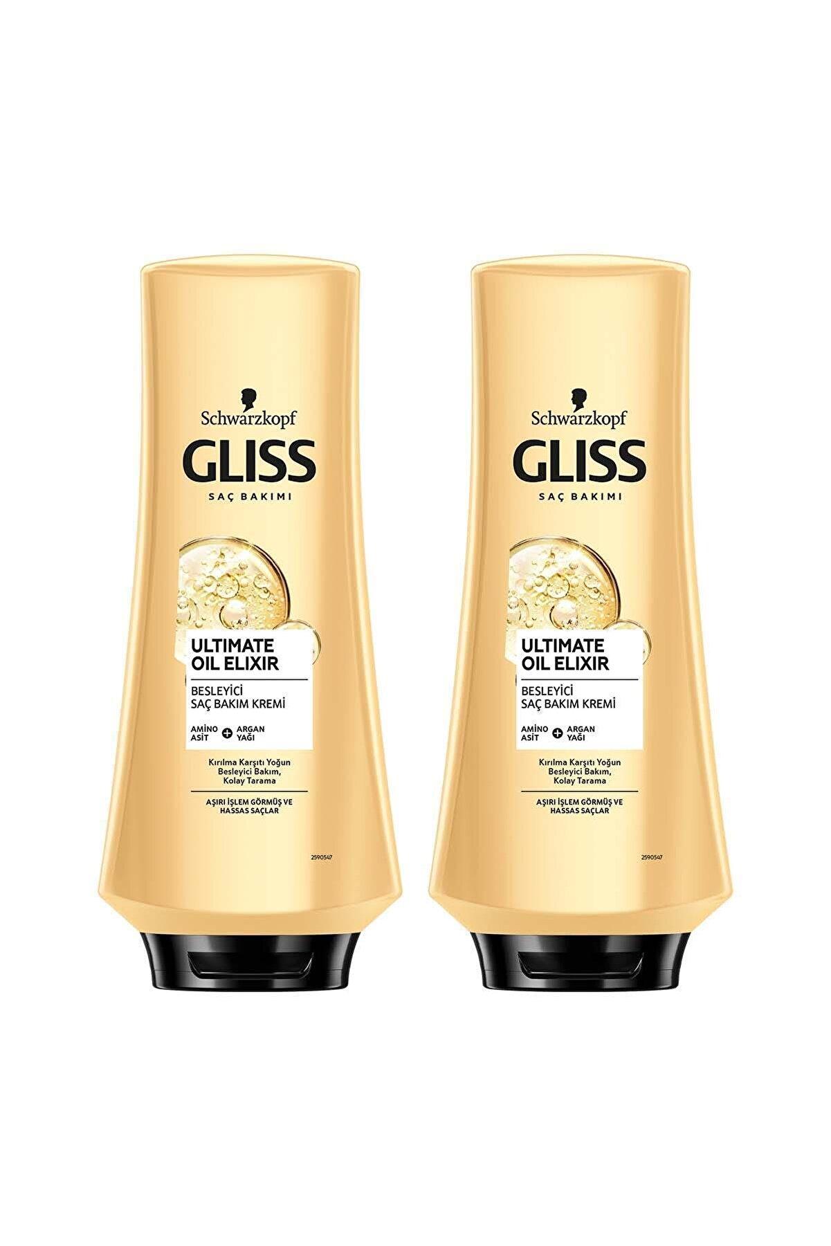 Gliss Ultimate Oil Elixir Besleyici Saç Kremi 360 ML 2'li