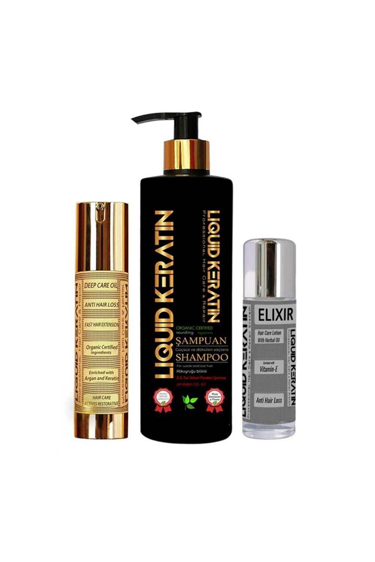 Liquid Keratin Hızlı Saç Uzatmaya Yardımcı 3'lü Set