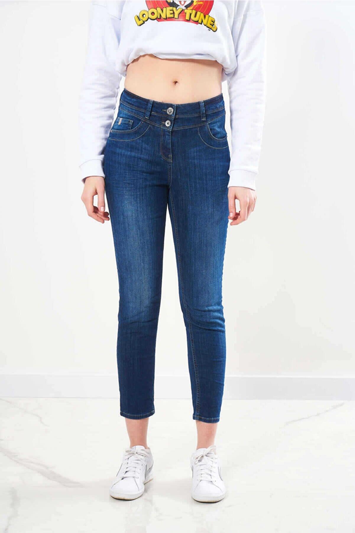 FINGER PRINT Kadın Mavi Denim Jeans