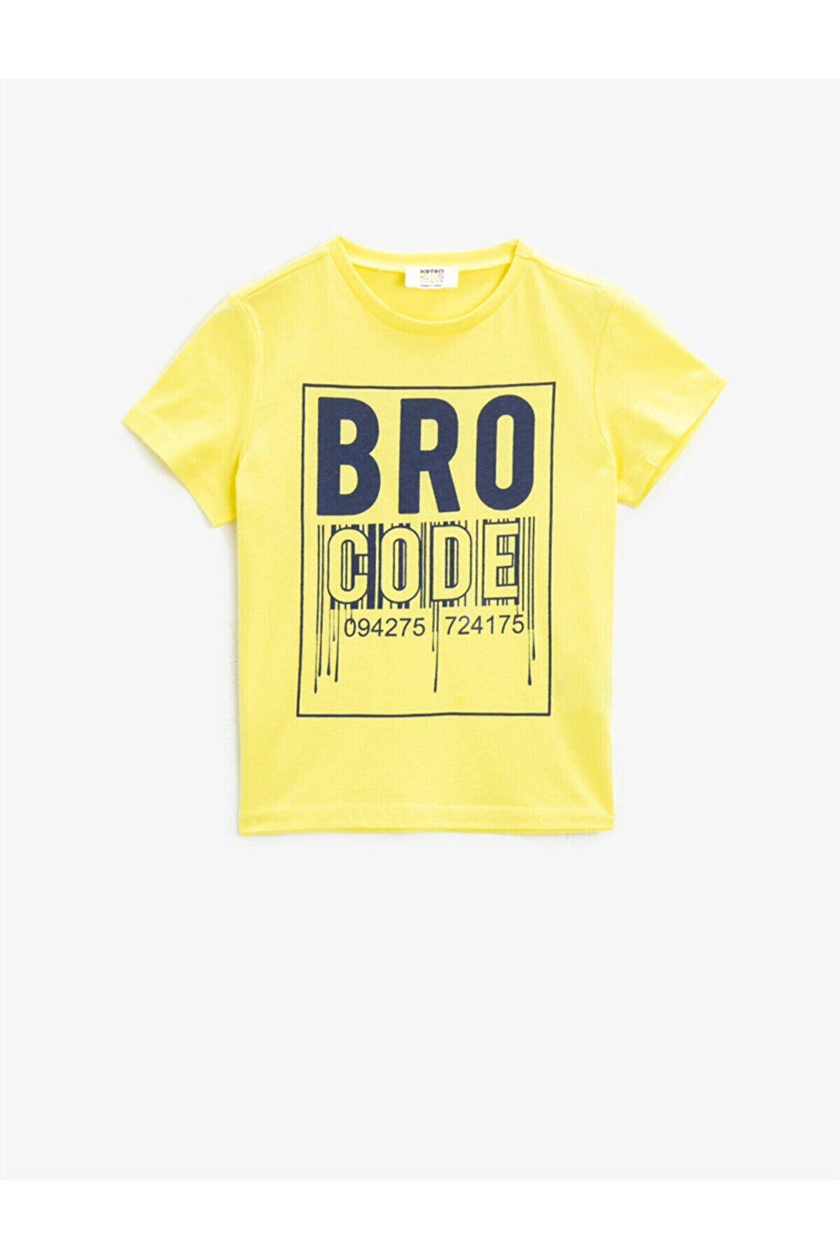 Koton Erkek Çocuk  Pamuklu Kisa Kollu Baskılı  Bisiklet Yaka  T-Shirt