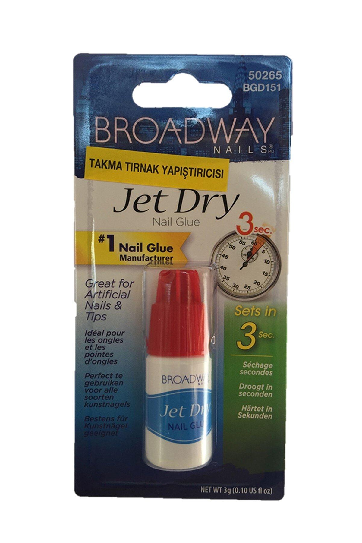 Broadway Takma Tırnak Yapıştırıcı - Jet Dry N.Glue 3Gr 731509502657