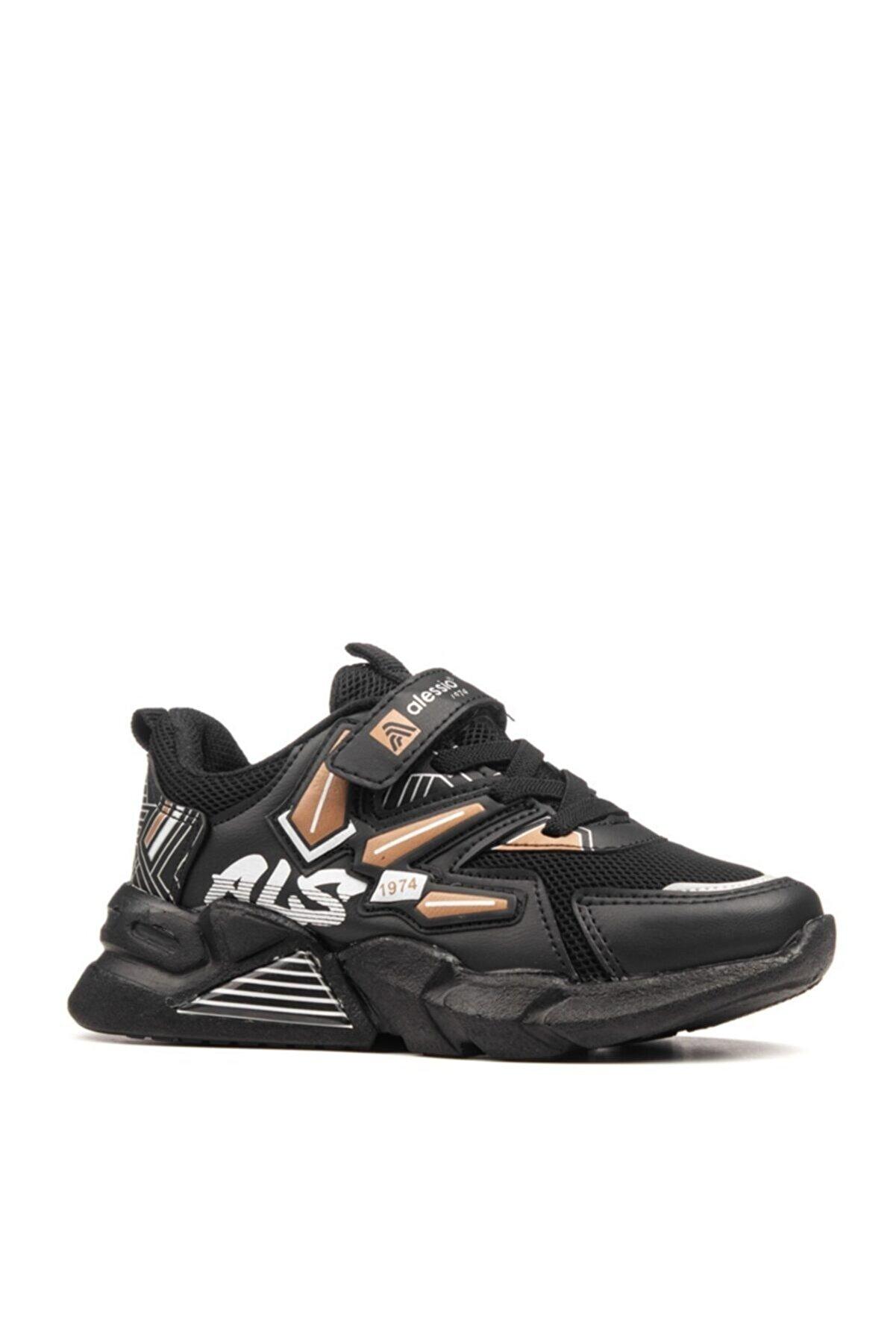 MAGIC SHOES Unisex Çocuk Siyah Taba Spor Ayakkabı