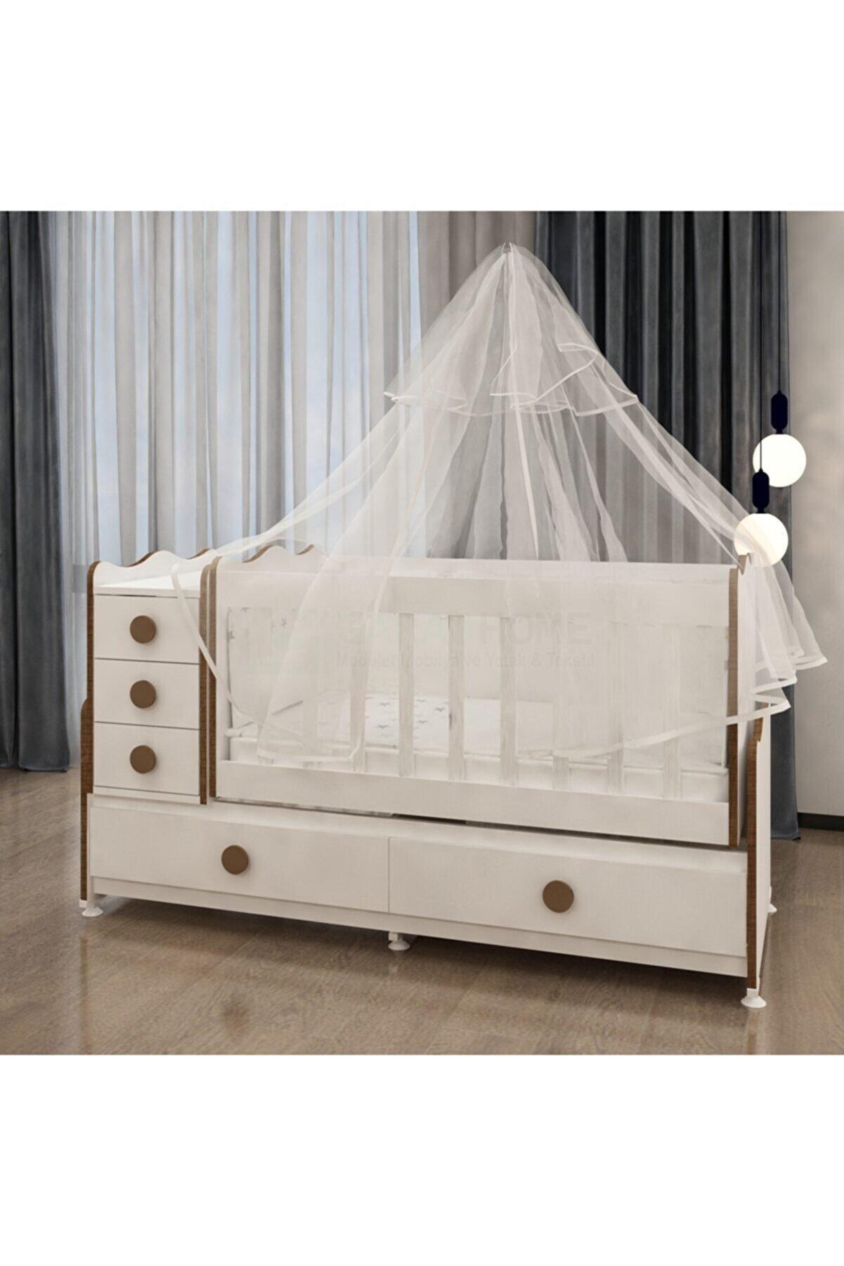 Garaj Home Melina Sümela Uyku Setli Beşik Kombini- Uykuseti Pembe