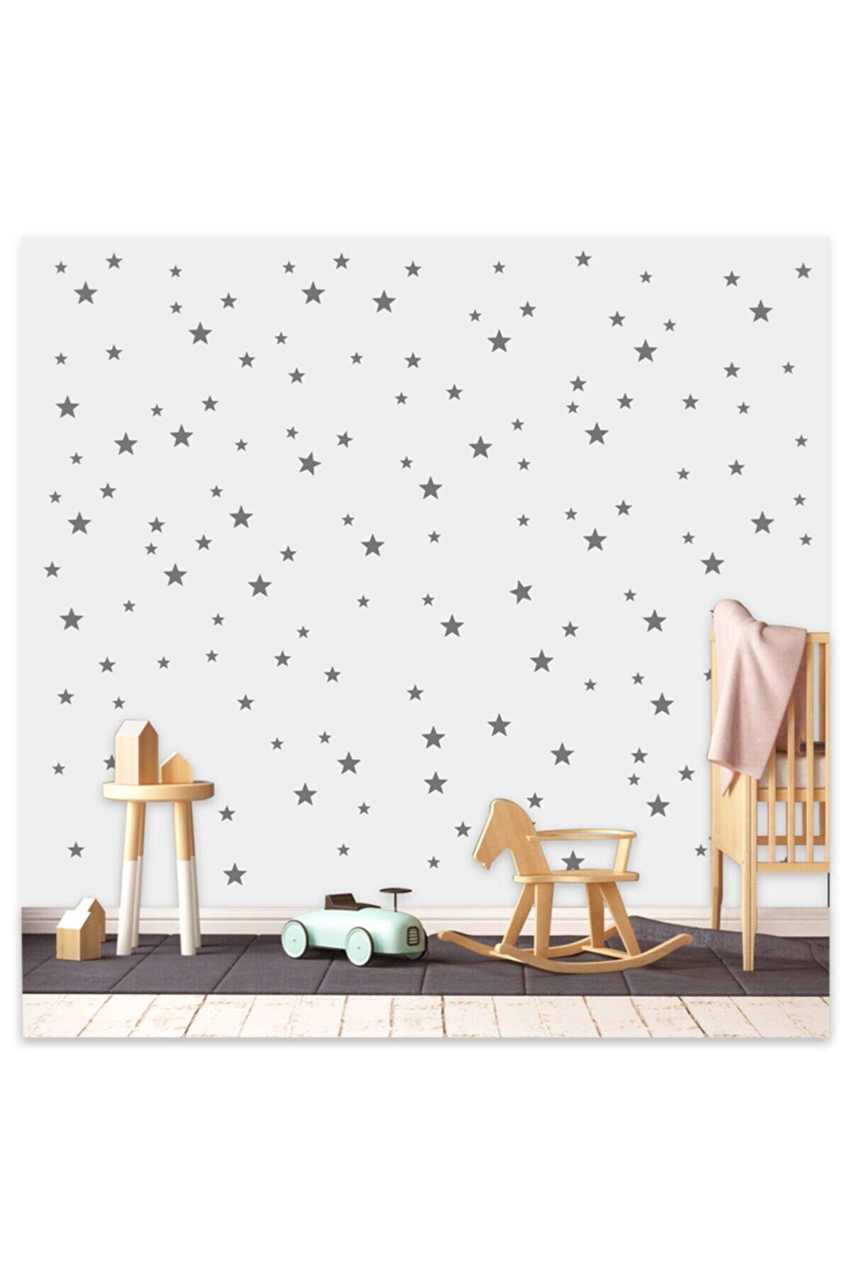 Sticker Sepetim Bebek Ve Çocuk Odası Yıldız Seti 3,4,5 Cm 100 Adet