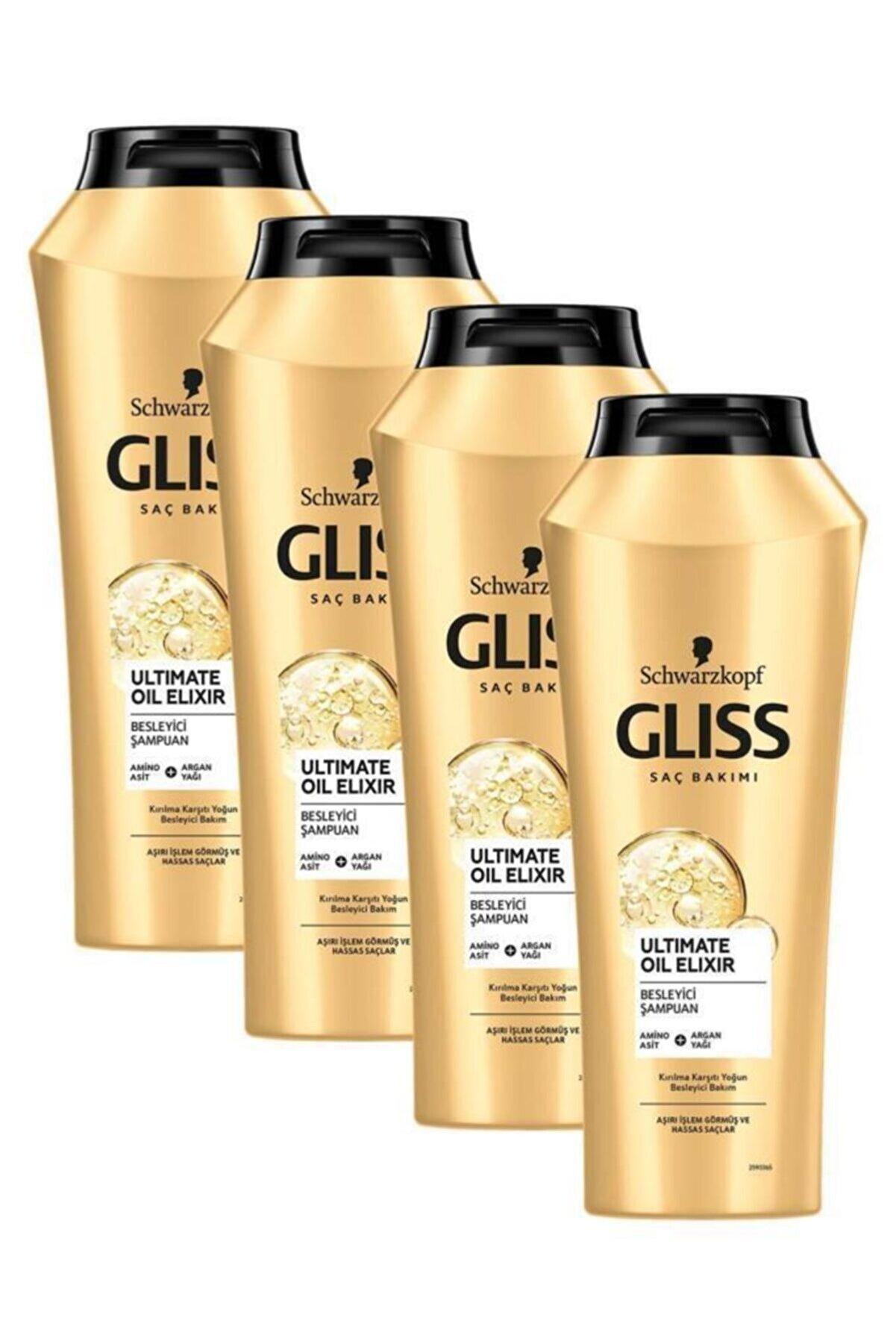 Gliss Ultimate Oil Elixir Besleyici Şampuan 500 ml 4'lü