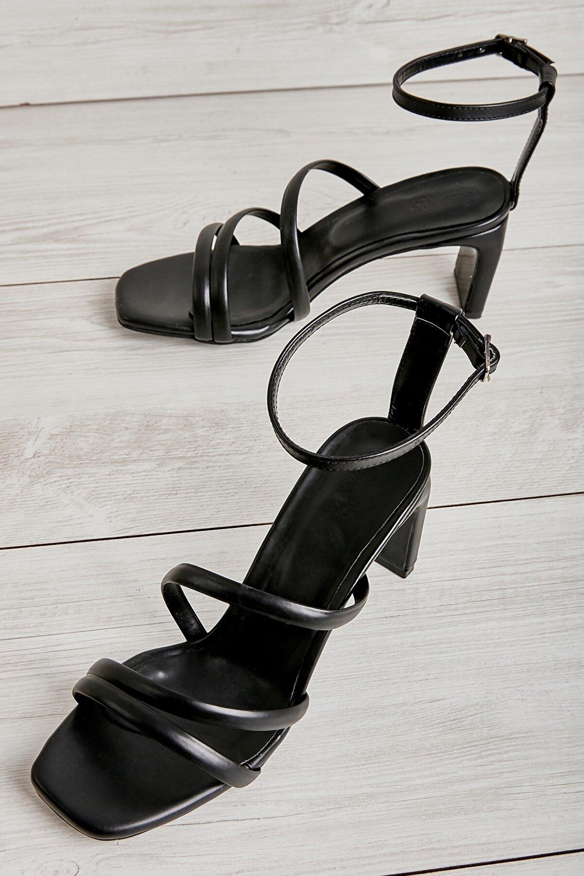 Bambi Siyah Kadın Klasik Topuklu Ayakkabı K01575000709