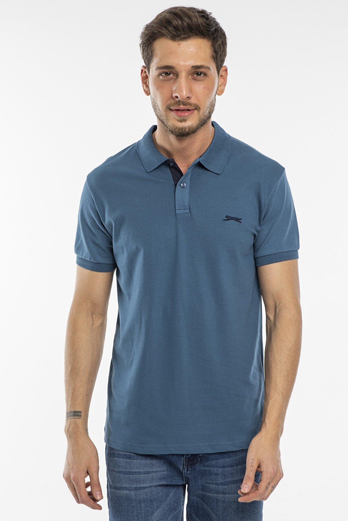 Slazenger Bambı Erkek T-shirt Indigo St11te100