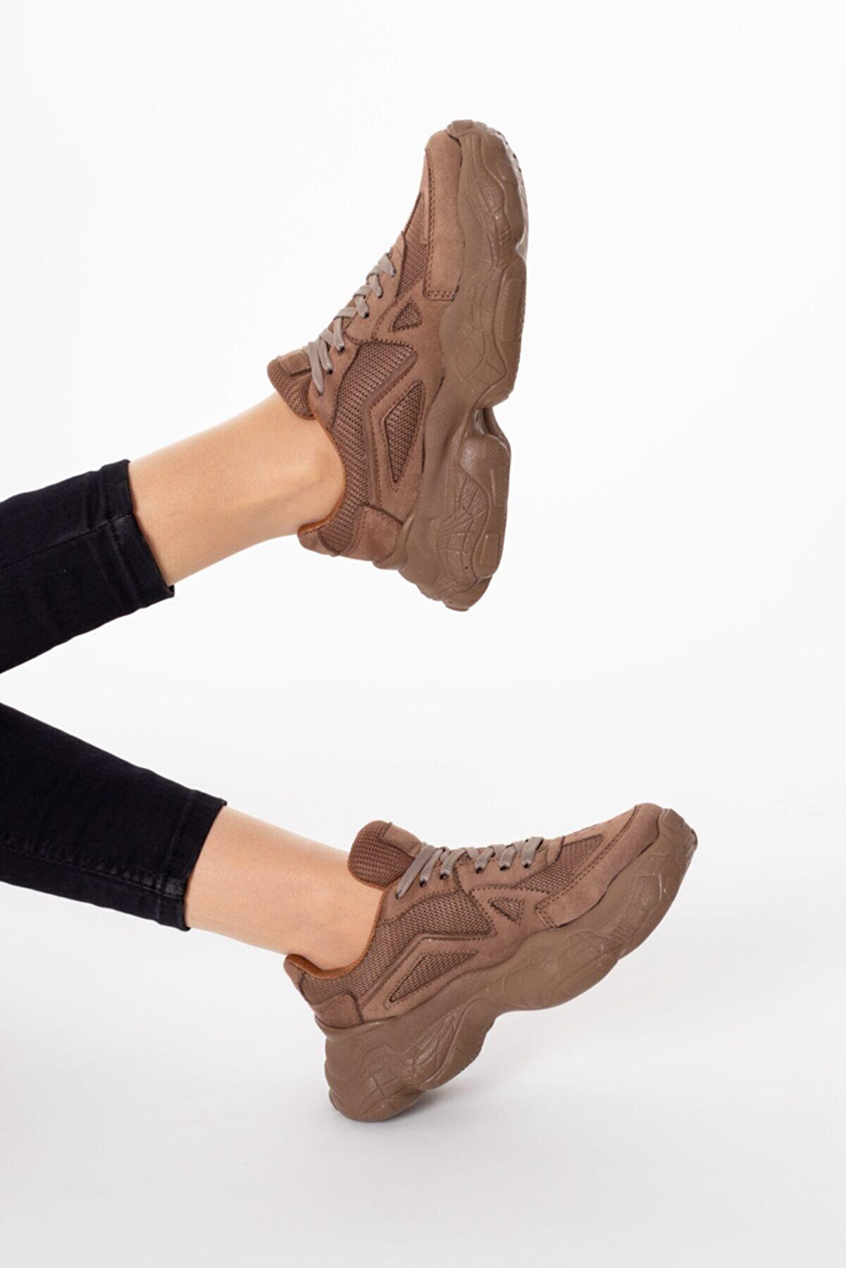 WOVS Kadın Yüksek Taban Sneaker Ayakkabı