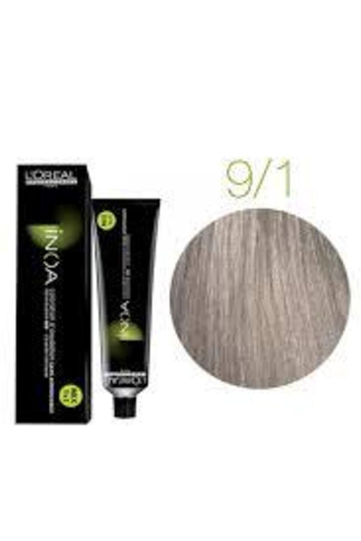 İNOA 9.1 Numara Sarı Küllü Saç Boyası 60 Ml (oksidansız)